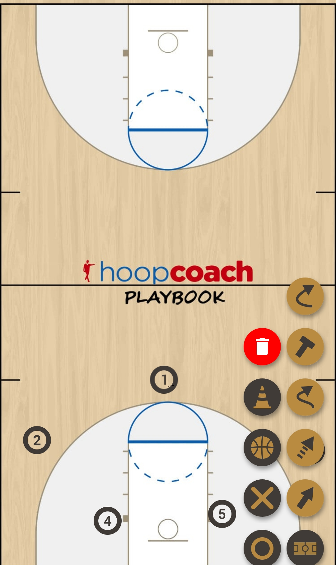 Basketball Play yote base Man to Man Set