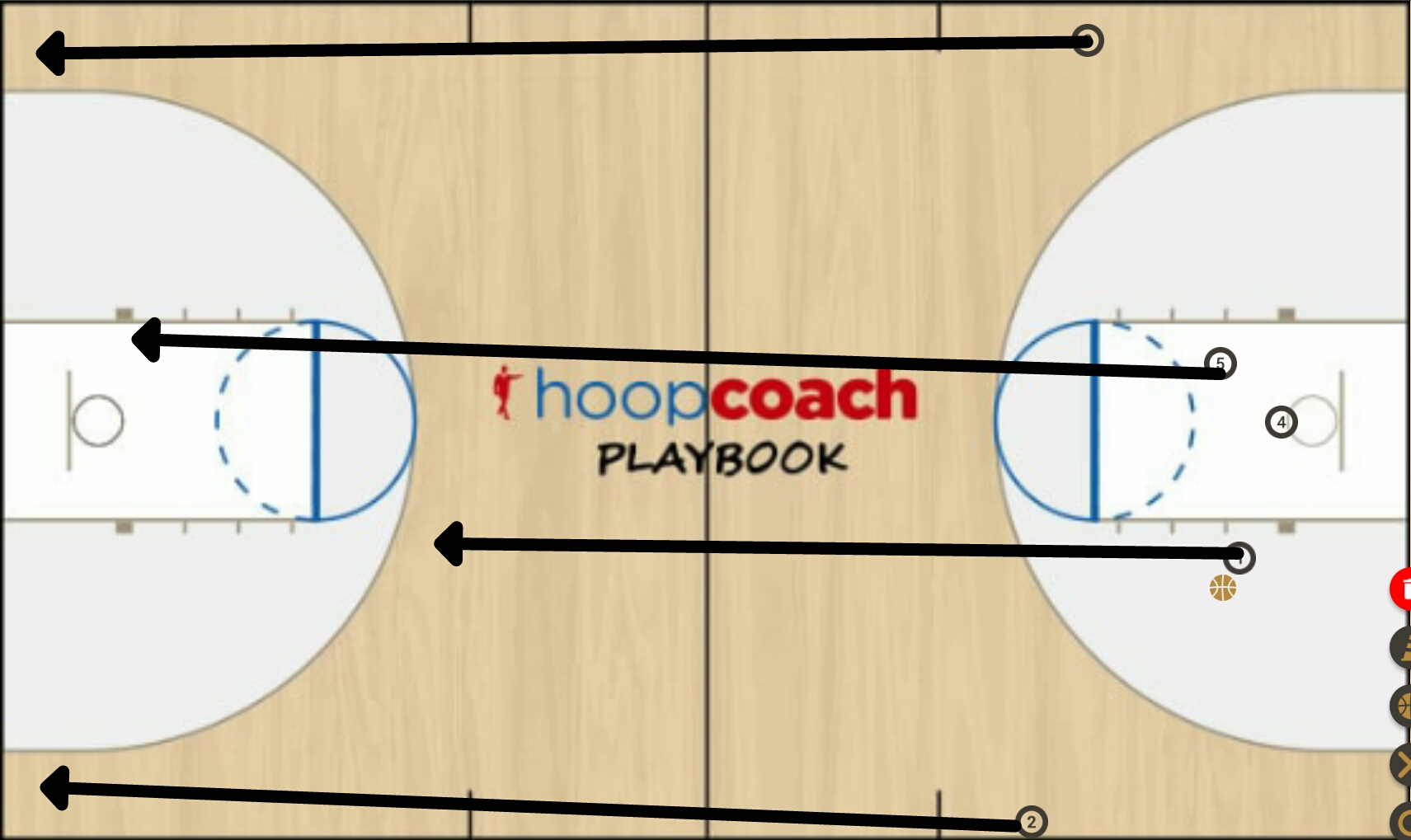 Basketball Play  Man to Man Set
