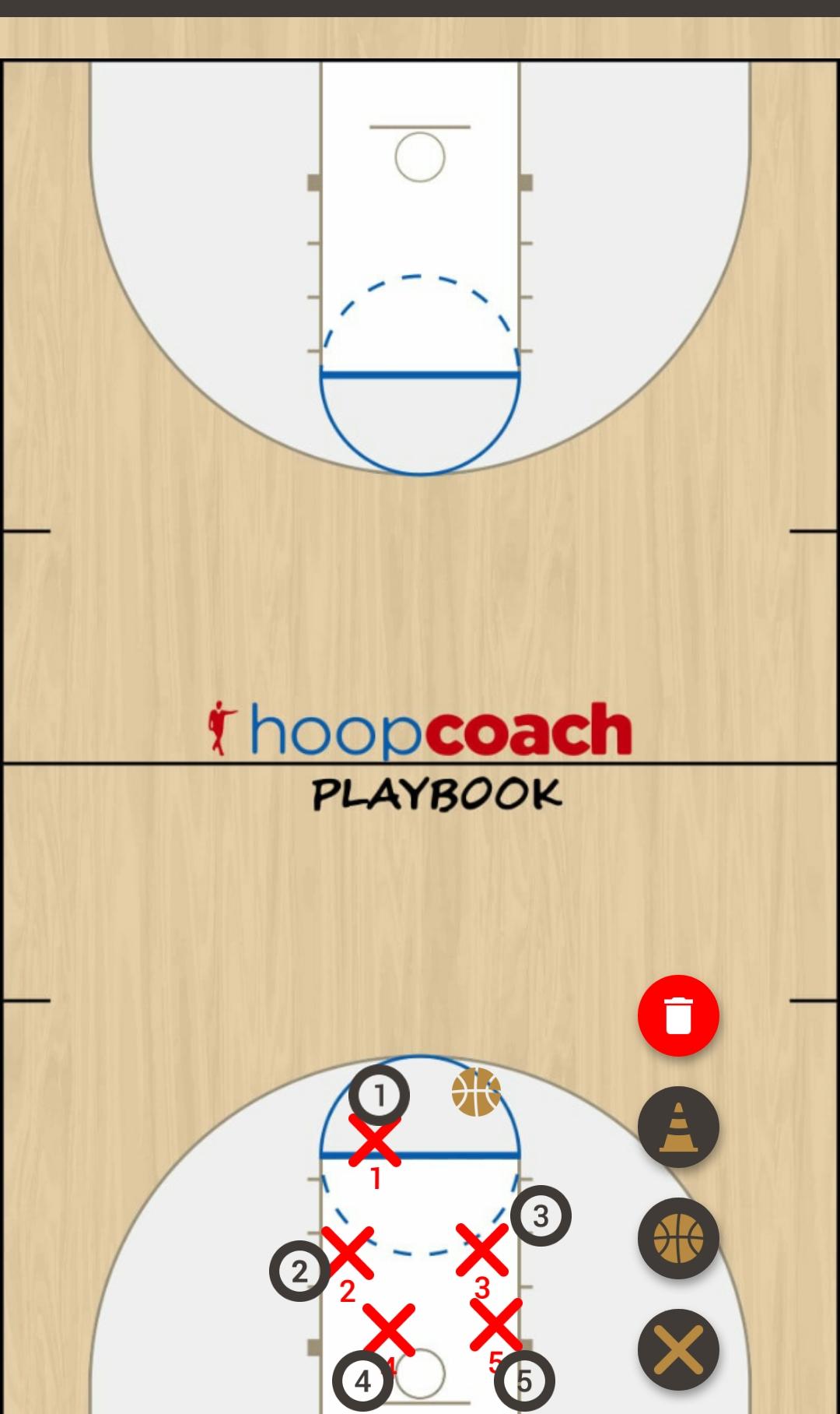 Basketball Play Pencil Man to Man Set