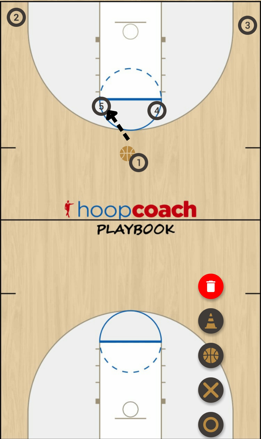 Basketball Play Elbow Man to Man Set