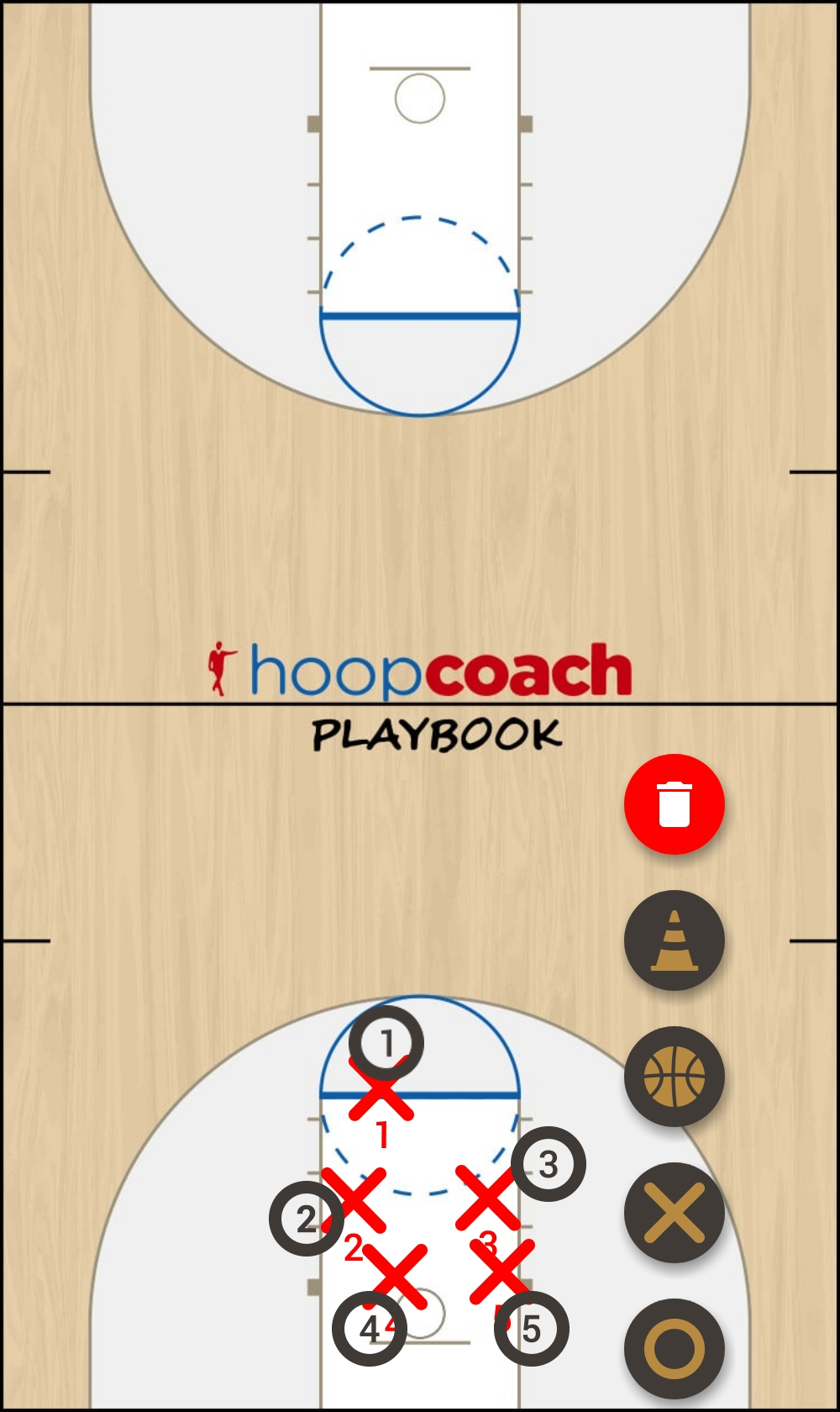 Basketball Play J5 Man to Man Set