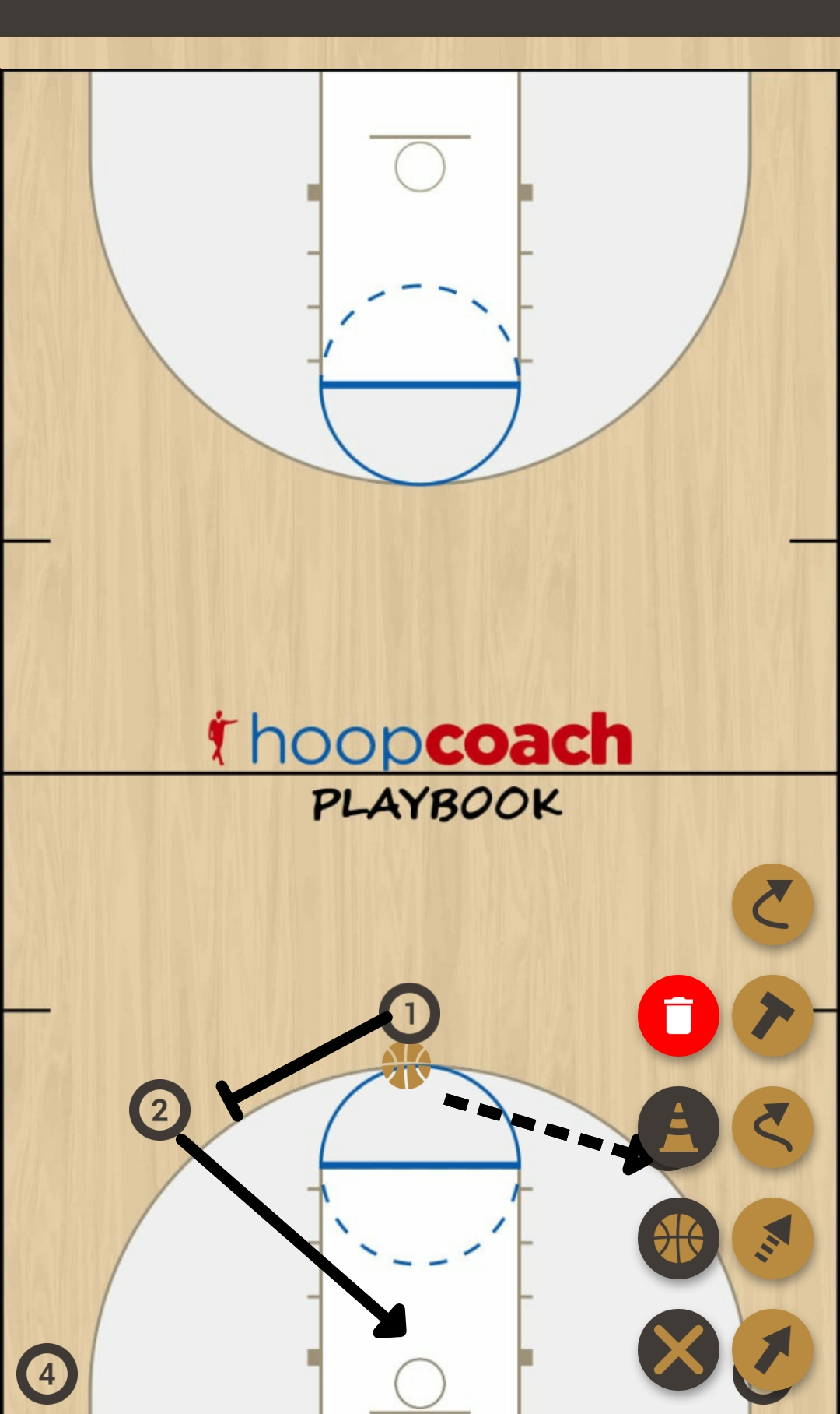 Basketball Play 5 vani Man to Man Offense offense
