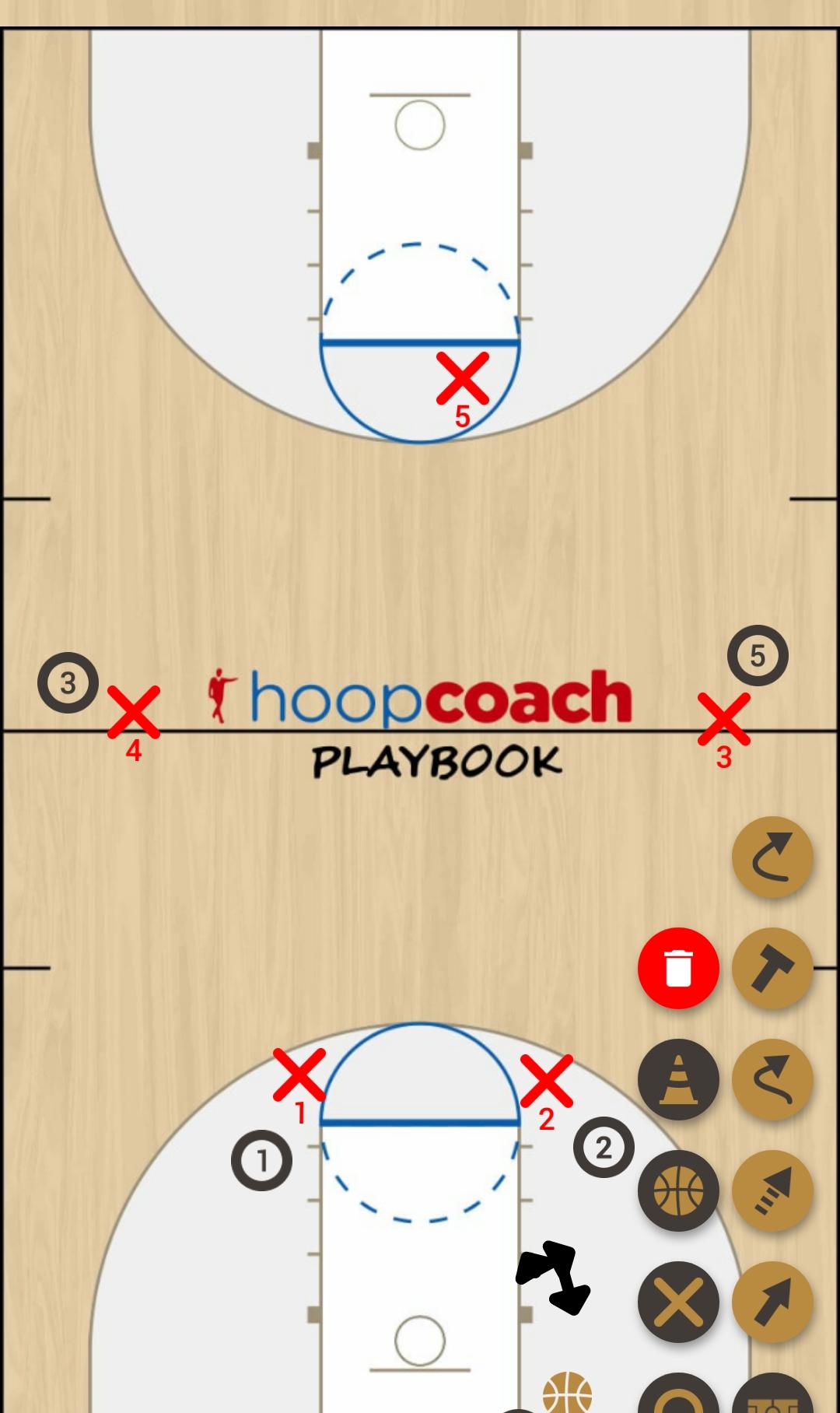 Basketball Play 75 Defense