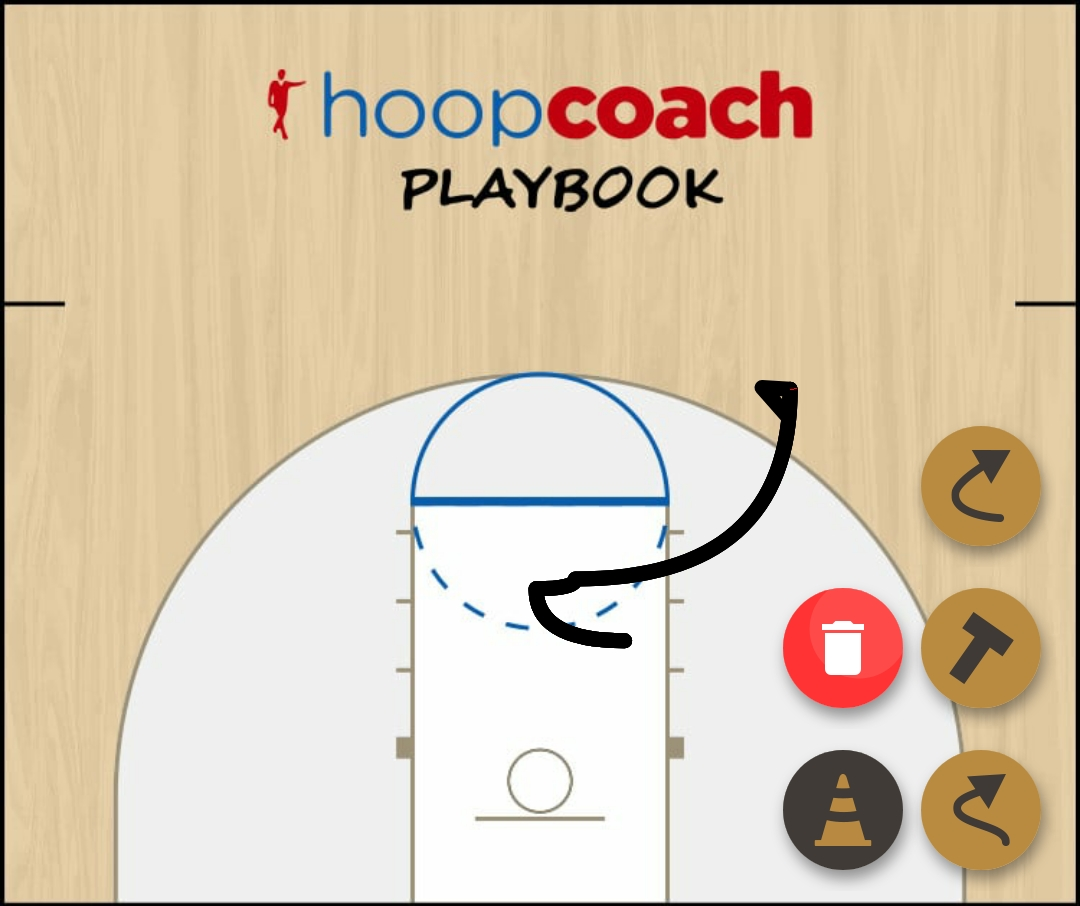 Basketball Play Play 1 Man to Man Set