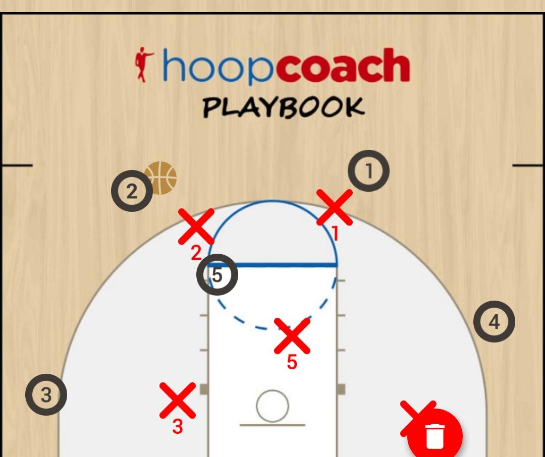 Basketball Play 1 Zone Play 23