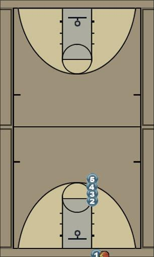 Basketball Play Wilton Stack 1 Zone Baseline Out of Bounds