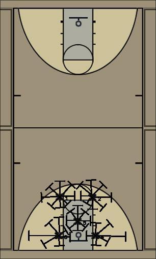 Basketball Play 2-3 Zone Defense