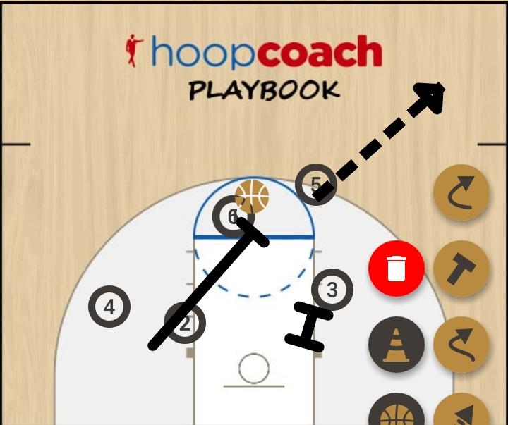 Basketball Play jedynka Man to Man Set