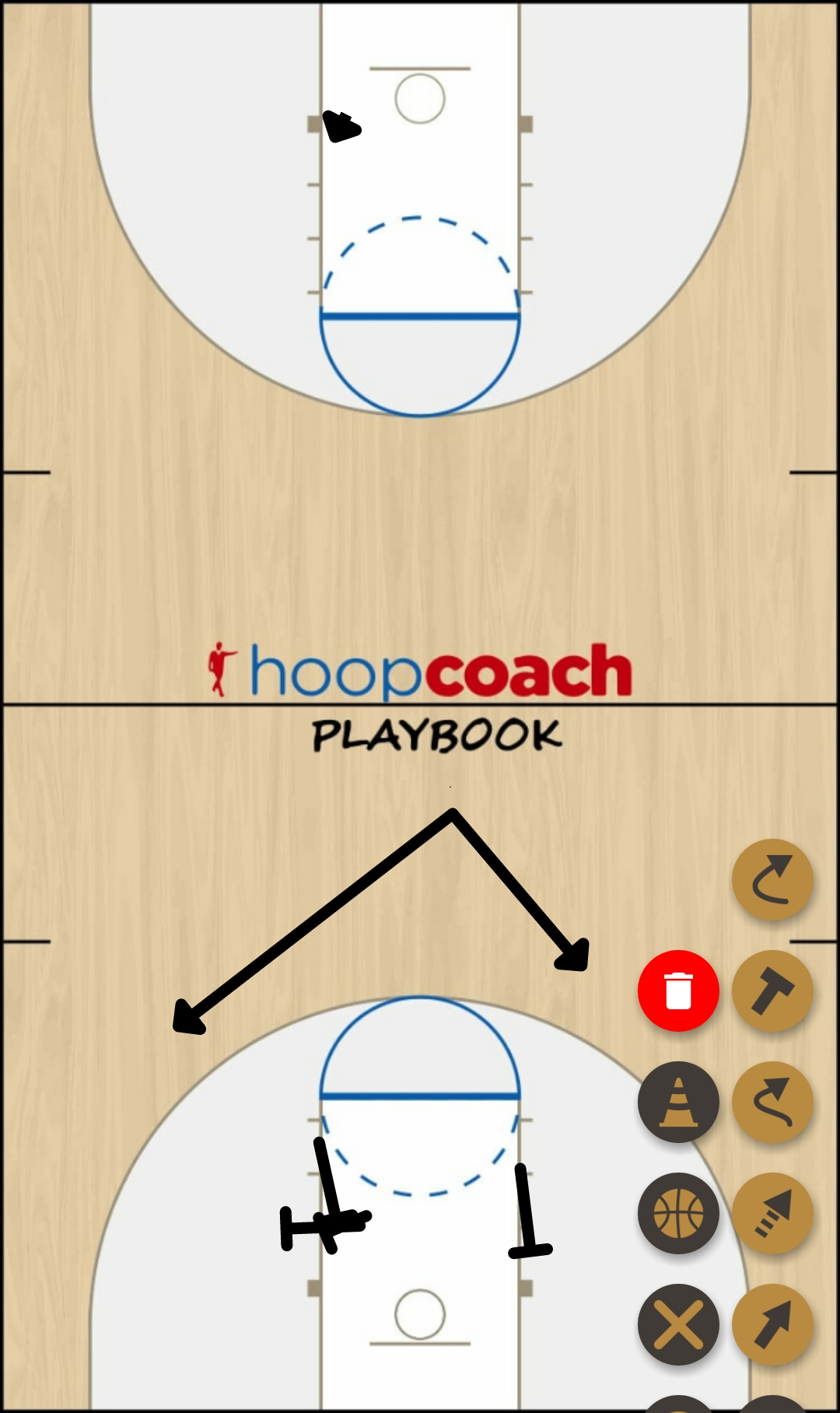 Basketball Play 4 game Man to Man Offense