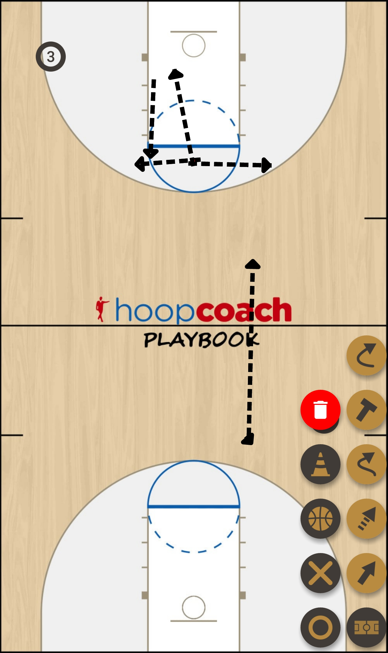 Basketball Play Wildcat Man to Man Offense red