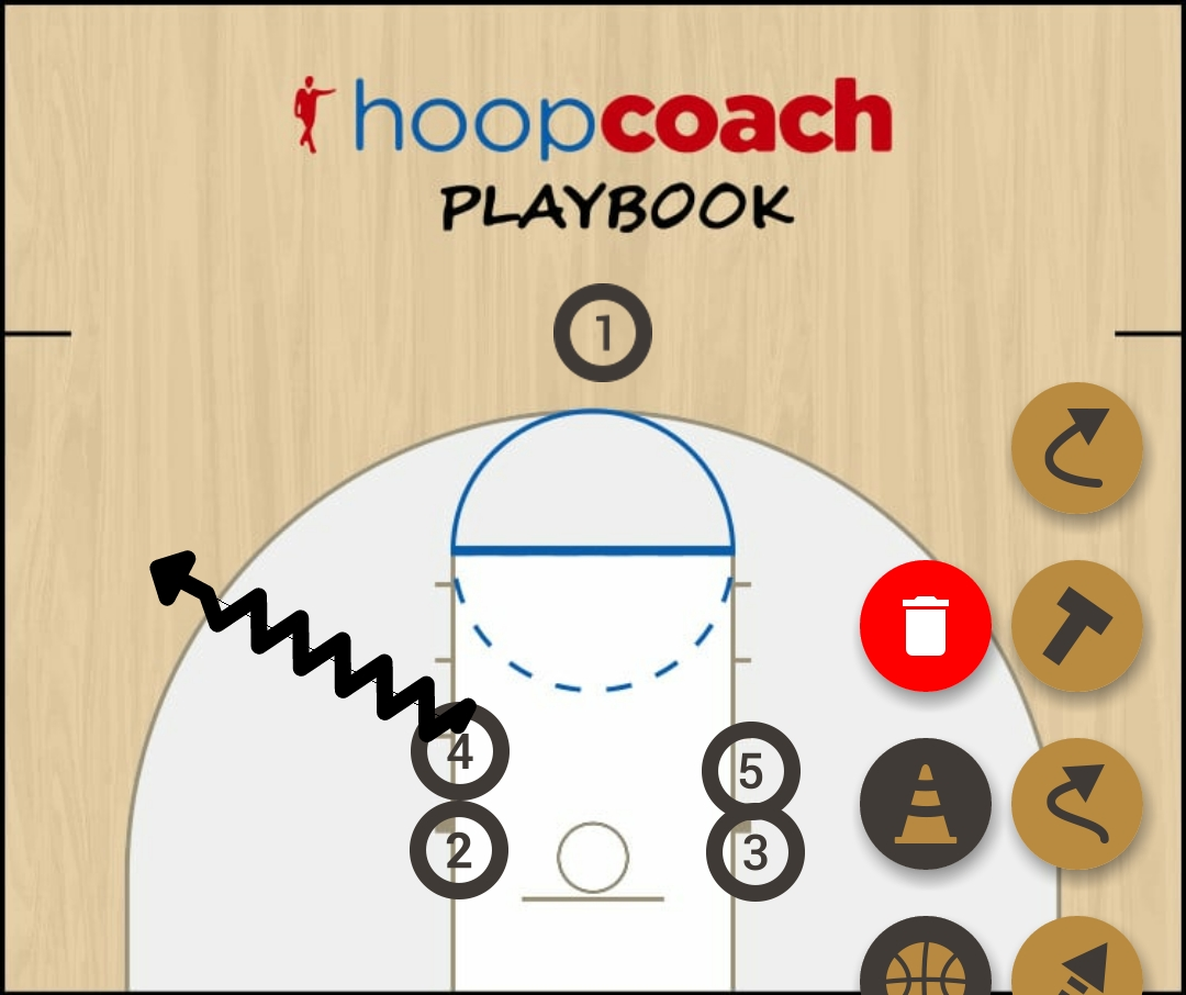 Basketball Play Wing Man to Man Set