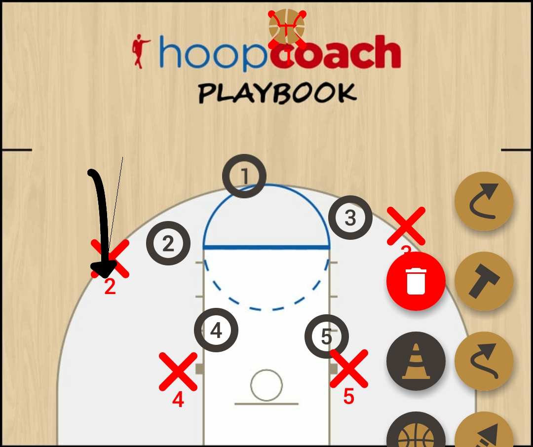Basketball Play color Man to Man Set