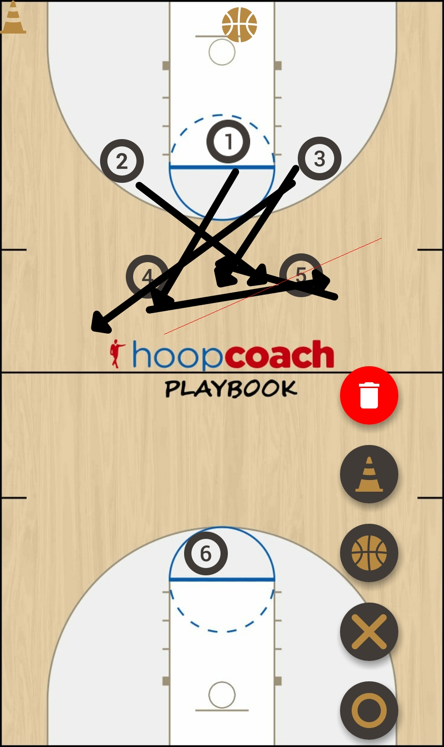 Basketball Play Motion Man to Man Set