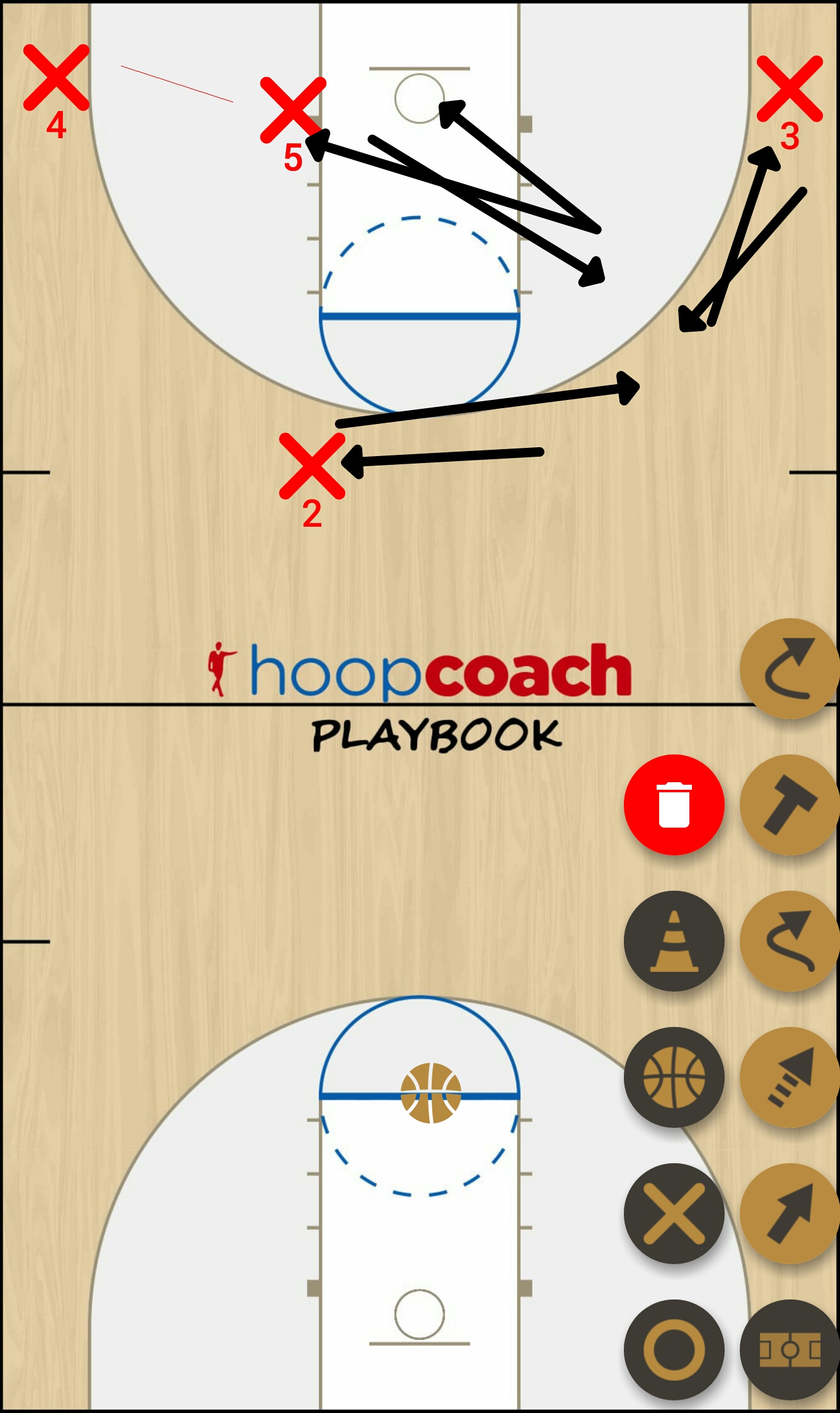 Basketball Play speaker Man to Man Set