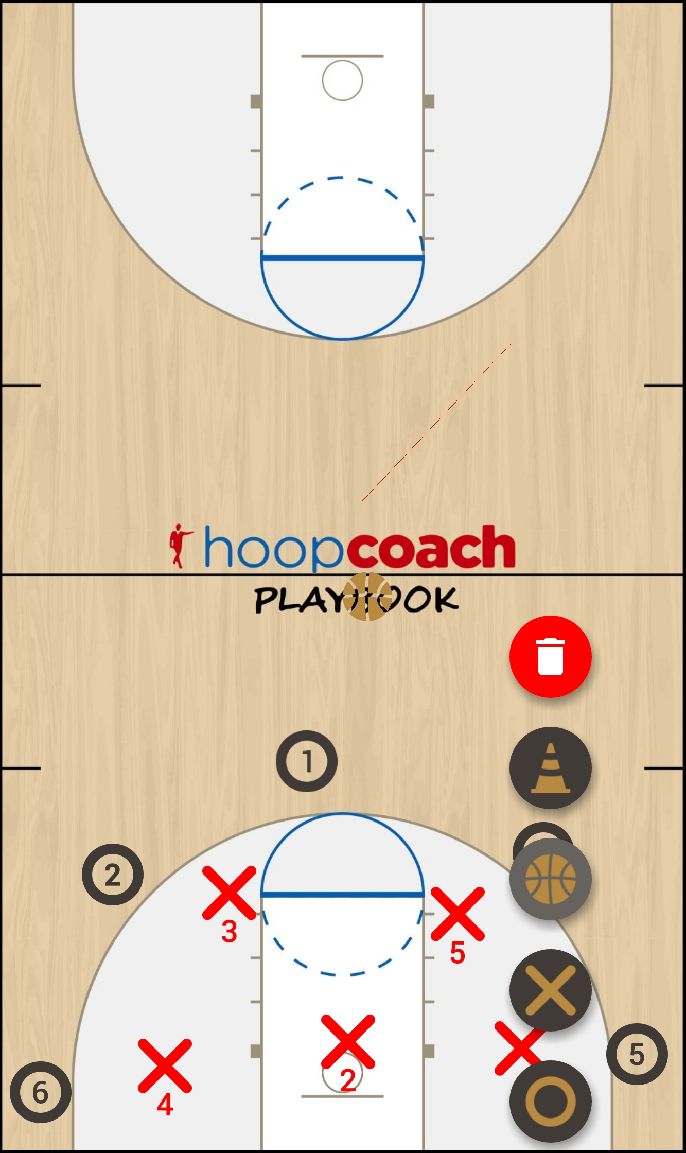 Basketball Play UNC Zone Play