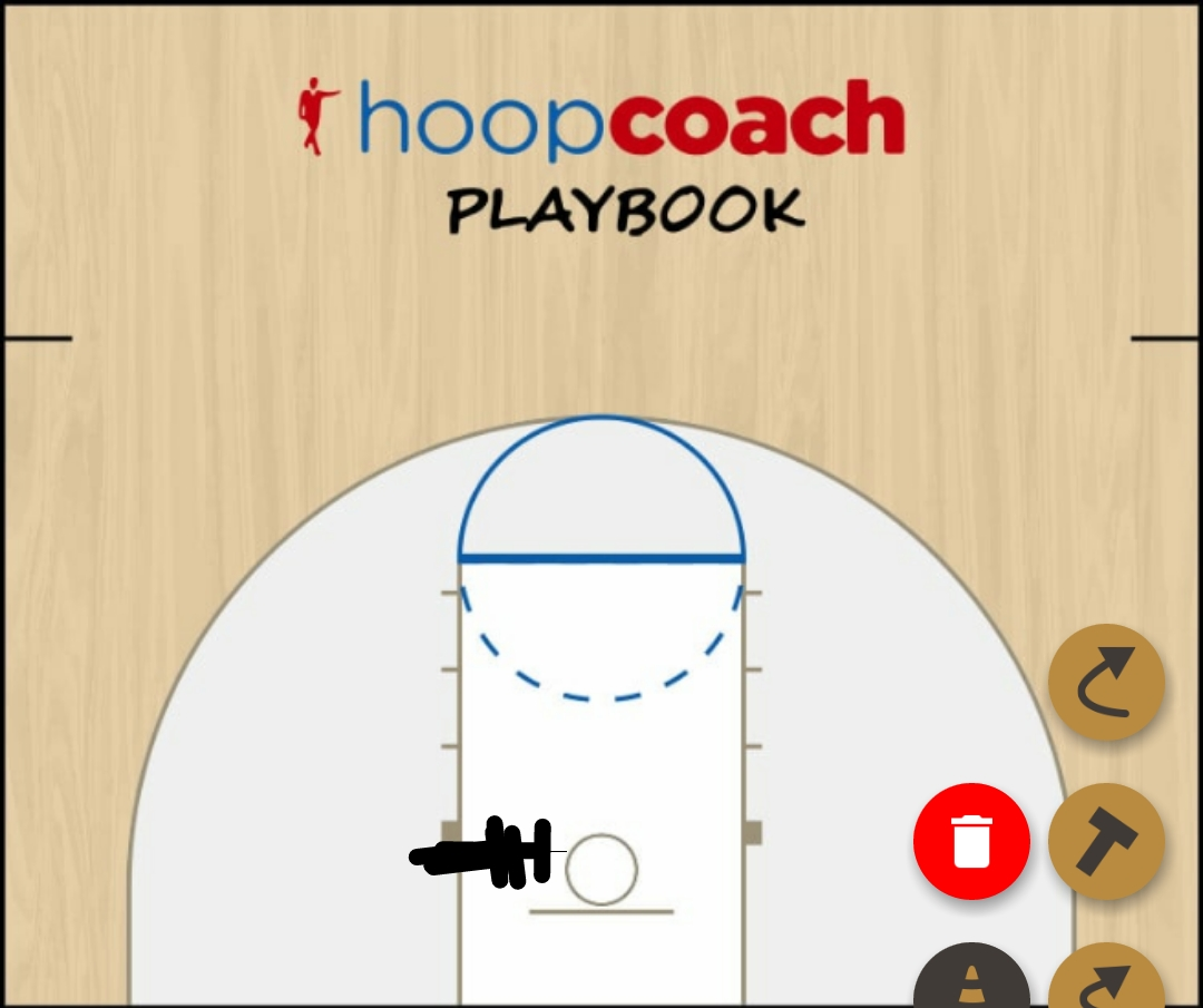 Basketball Play Metro Zone Baseline Out of Bounds