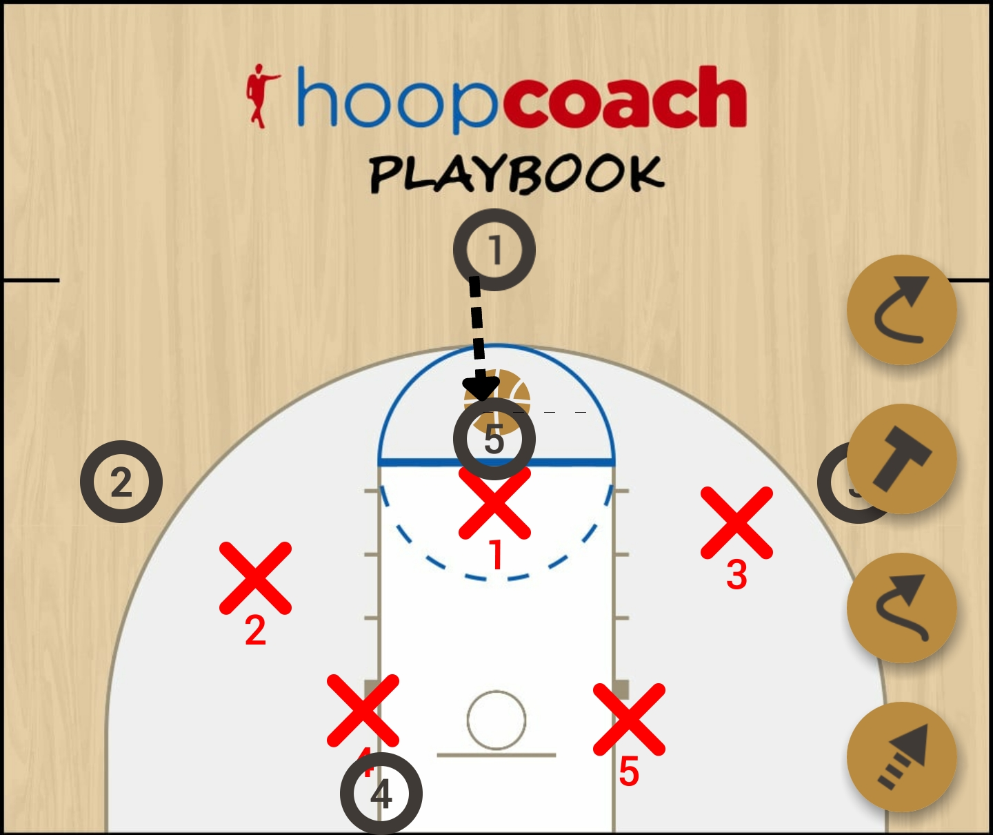 Basketball Play 2-3 Zone Zone Play