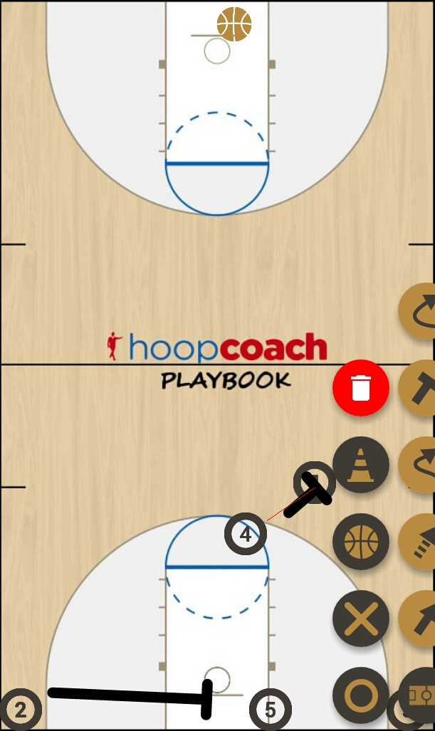 Basketball Play Pulgar Man to Man Offense alto-bajo