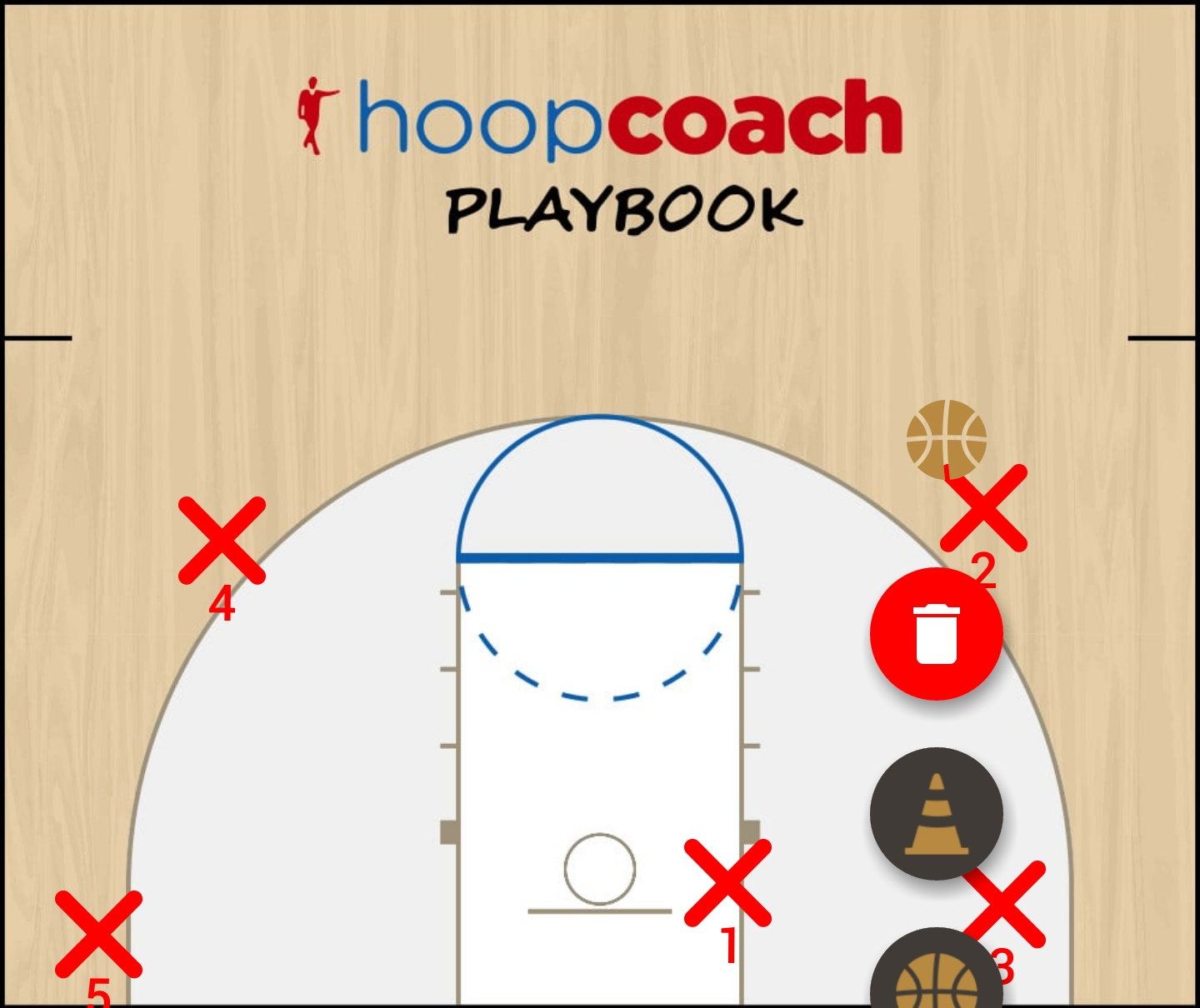 Basketball Play Triangle Man to Man Set