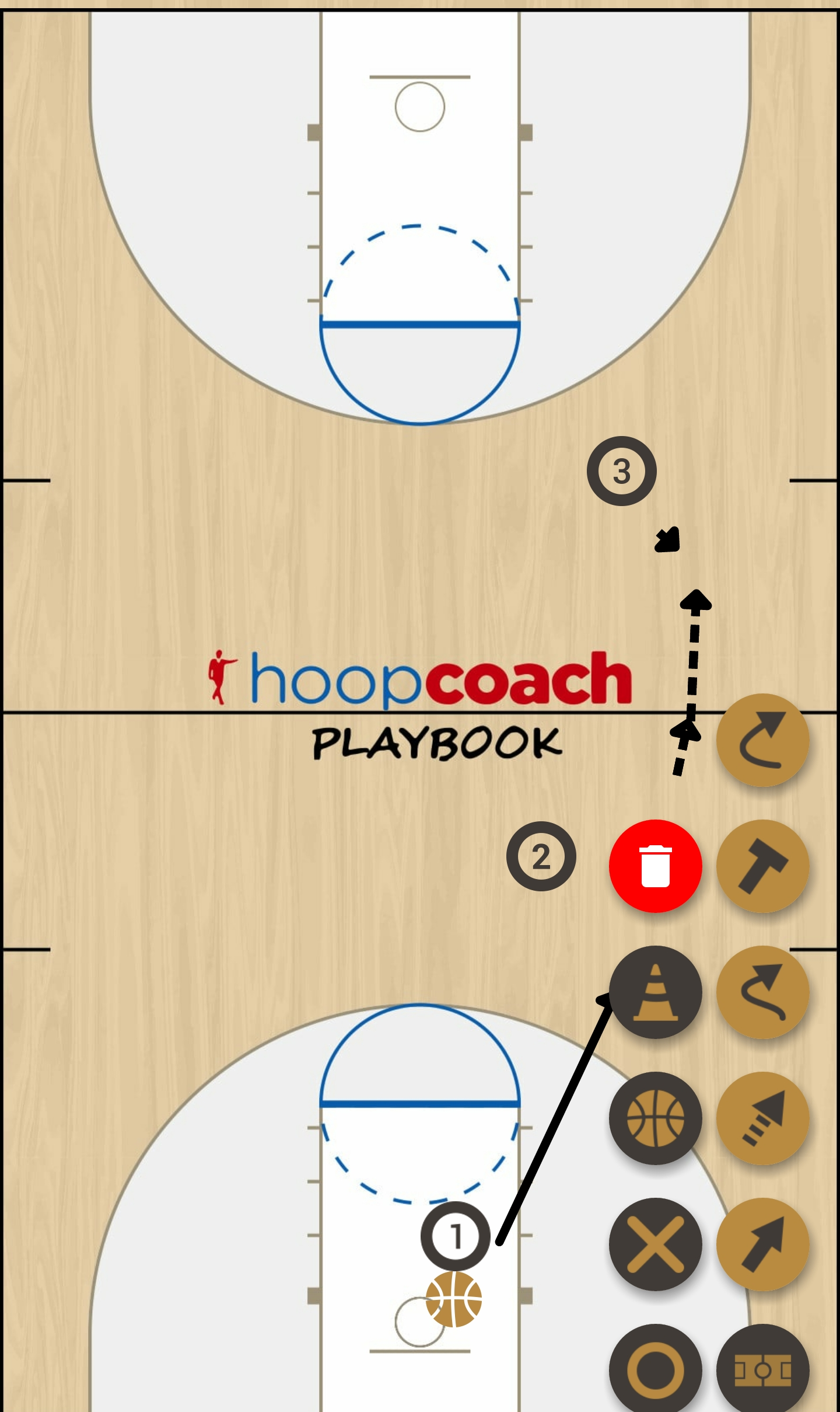 Basketball Play Sideline Run Man to Man Set
