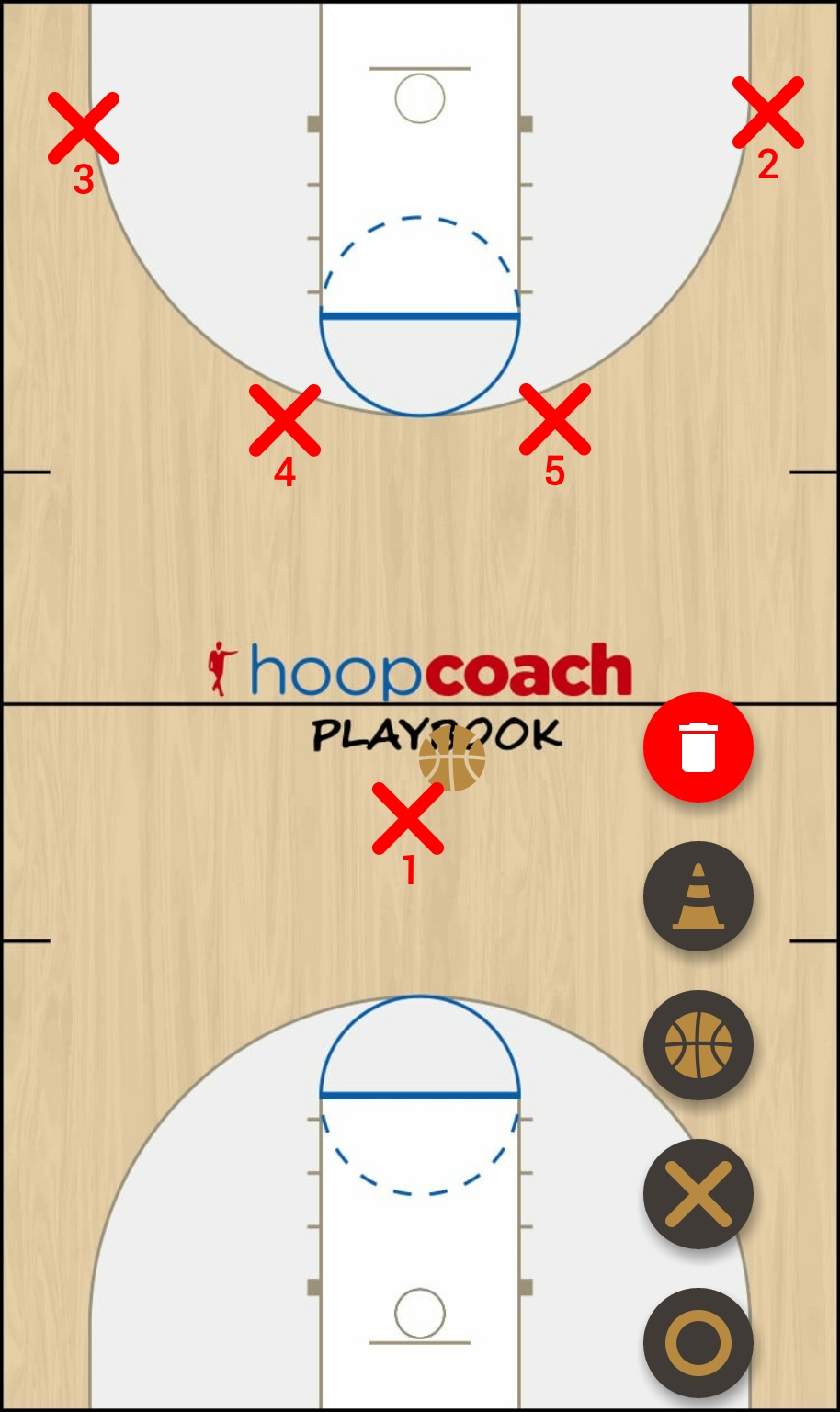 Basketball Play horns flex Man to Man Set