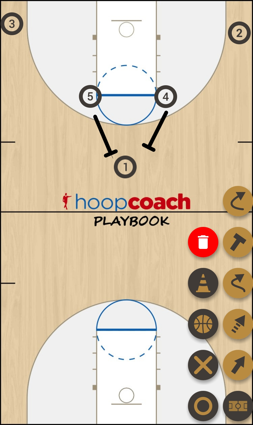 Basketball Play horns basic Man to Man Set nmbt