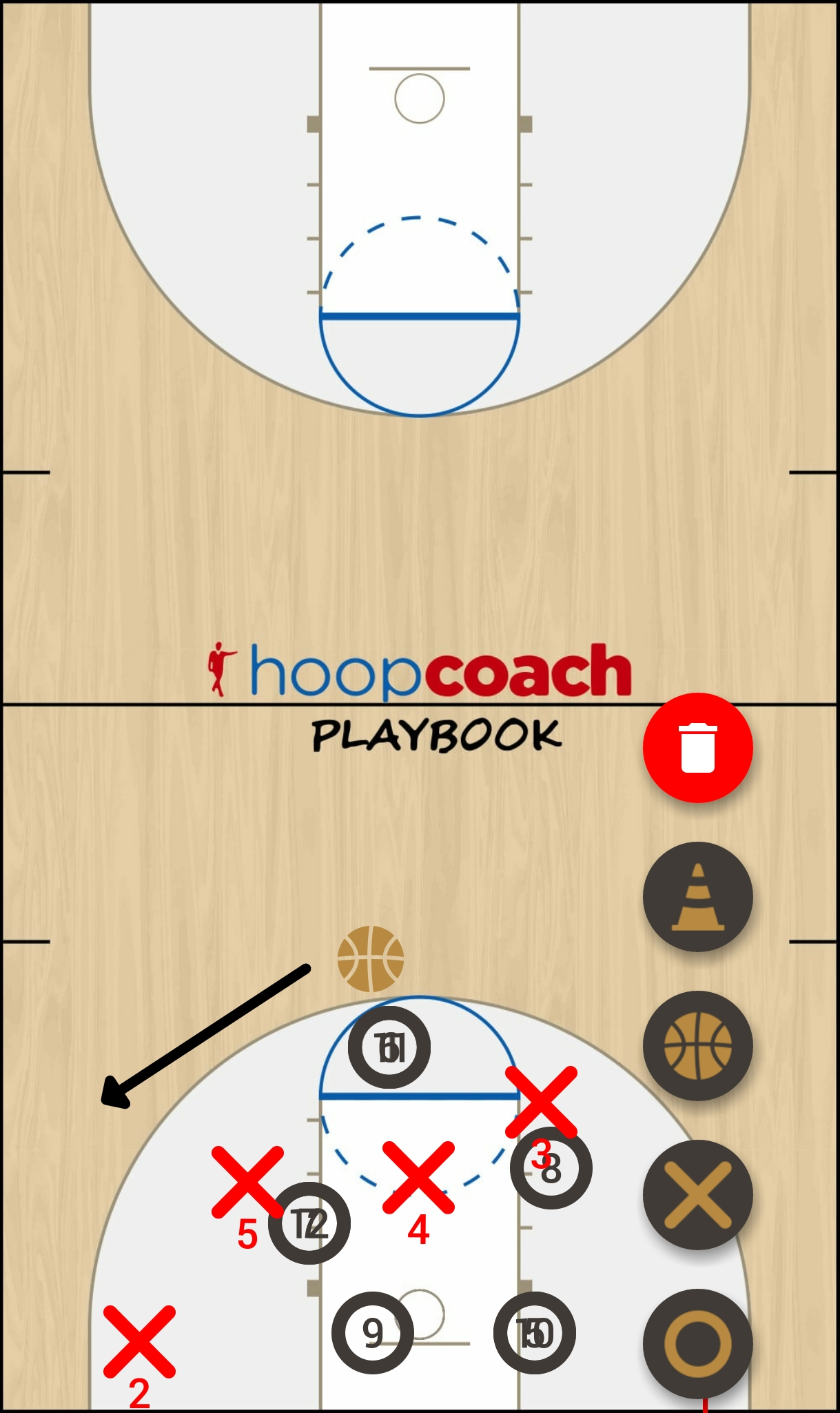 Basketball Play 141 Man to Man Set