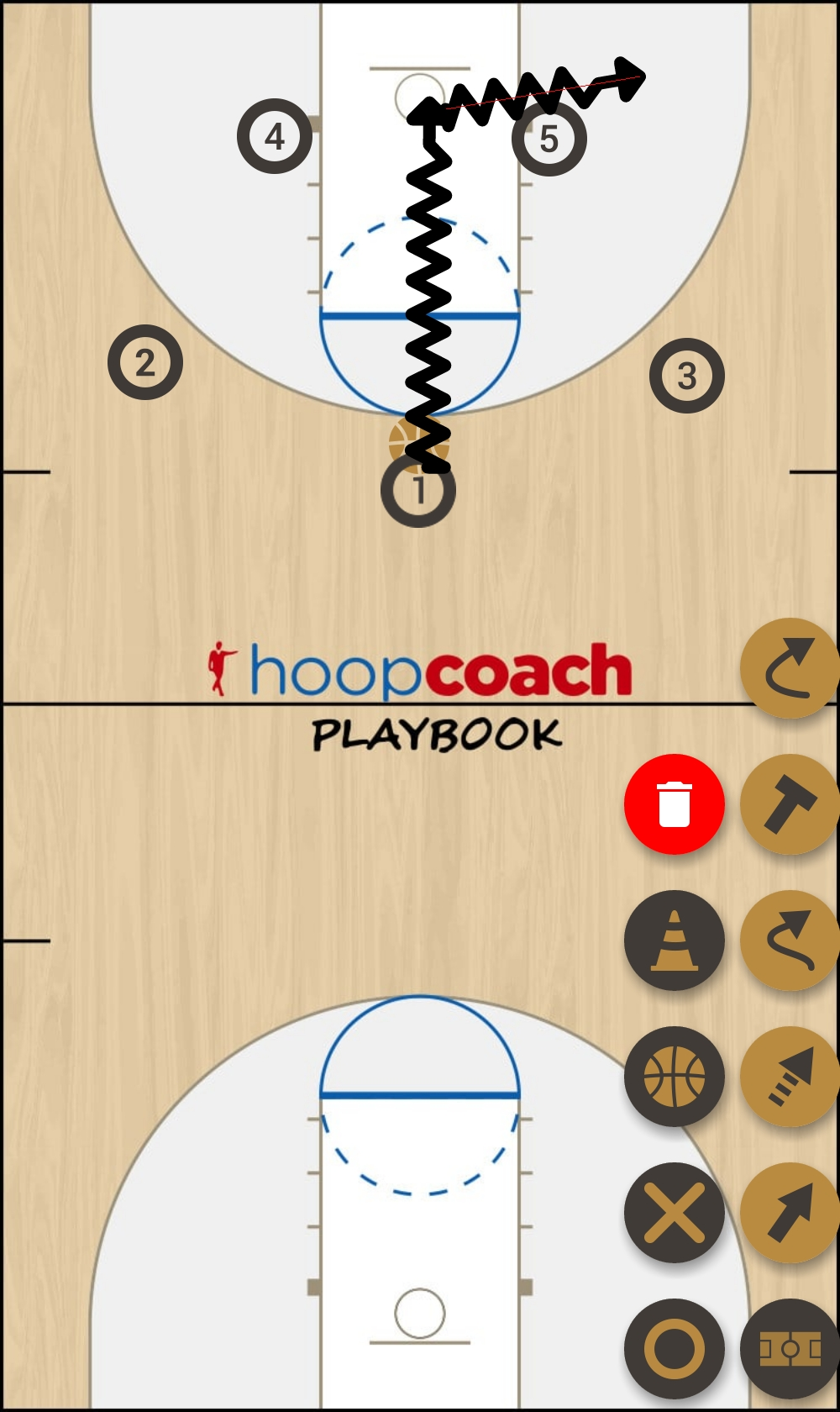 Basketball Play Red Man to Man Set