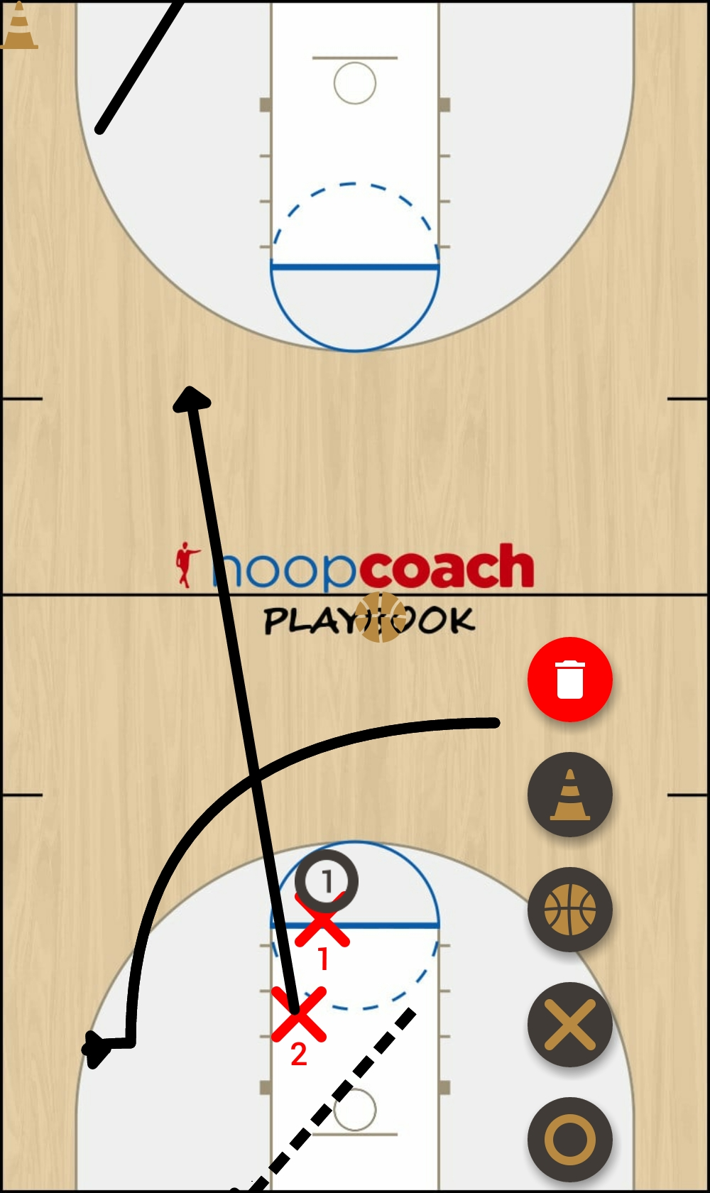 Basketball Play chicken wing Man to Man Set 14