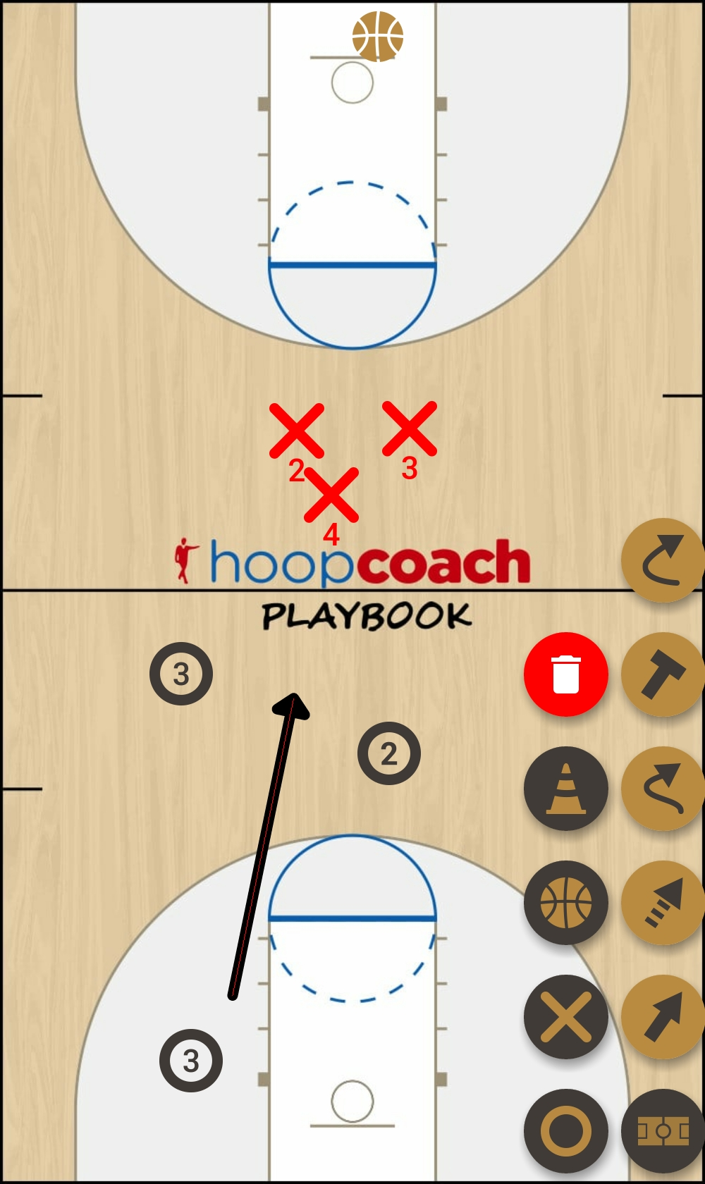 Basketball Play Inbounds I Man to Man Set