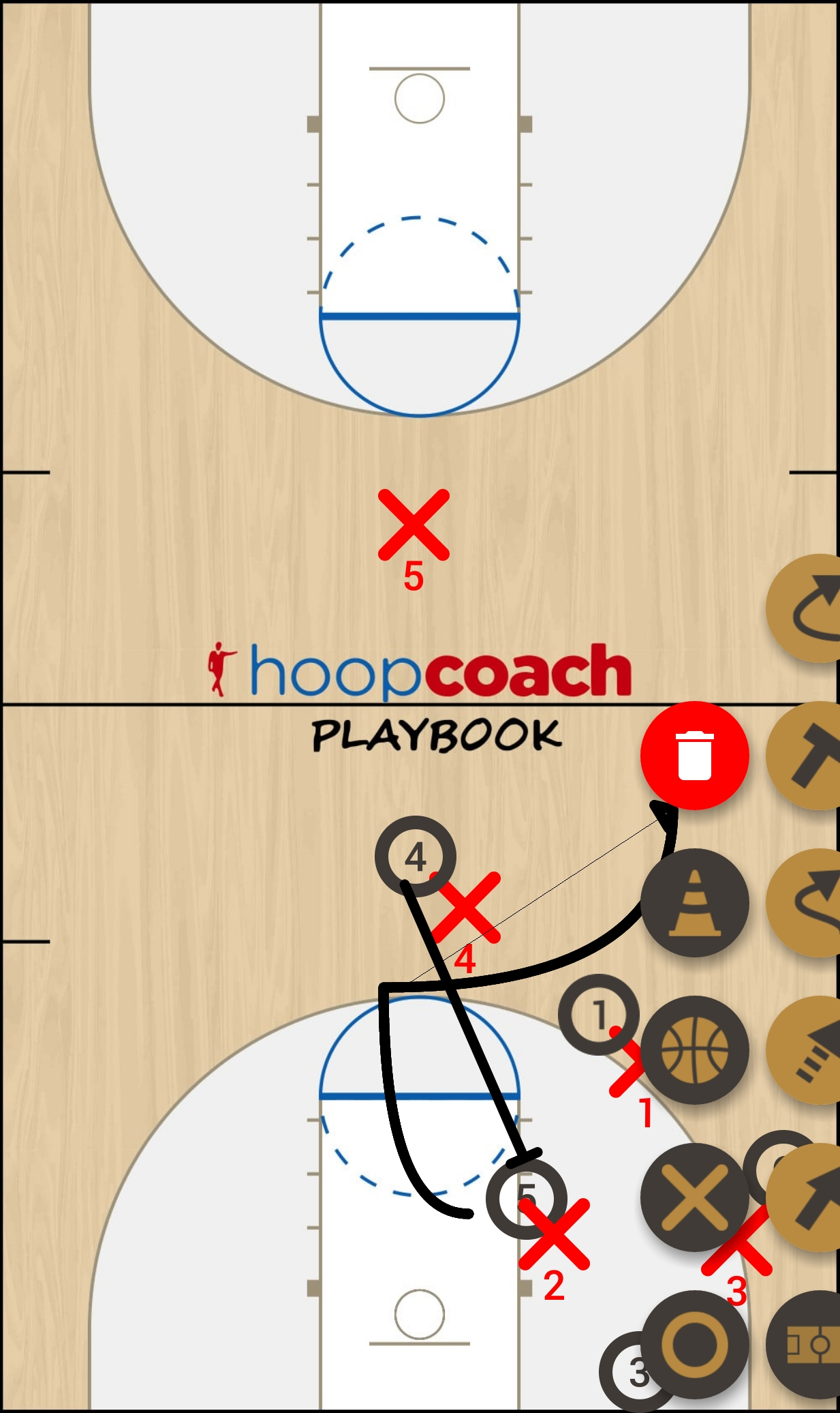 Basketball Play Triangle PBreak Man to Man Set
