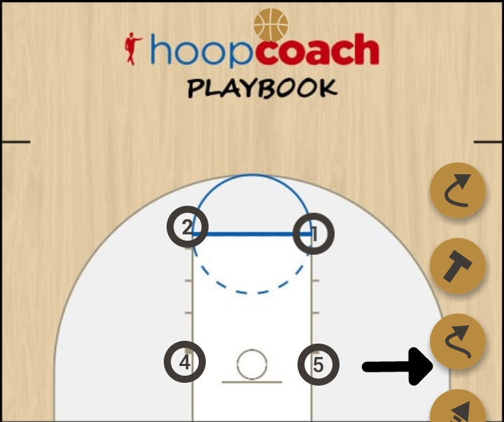 Basketball Play fundo Man to Man Set