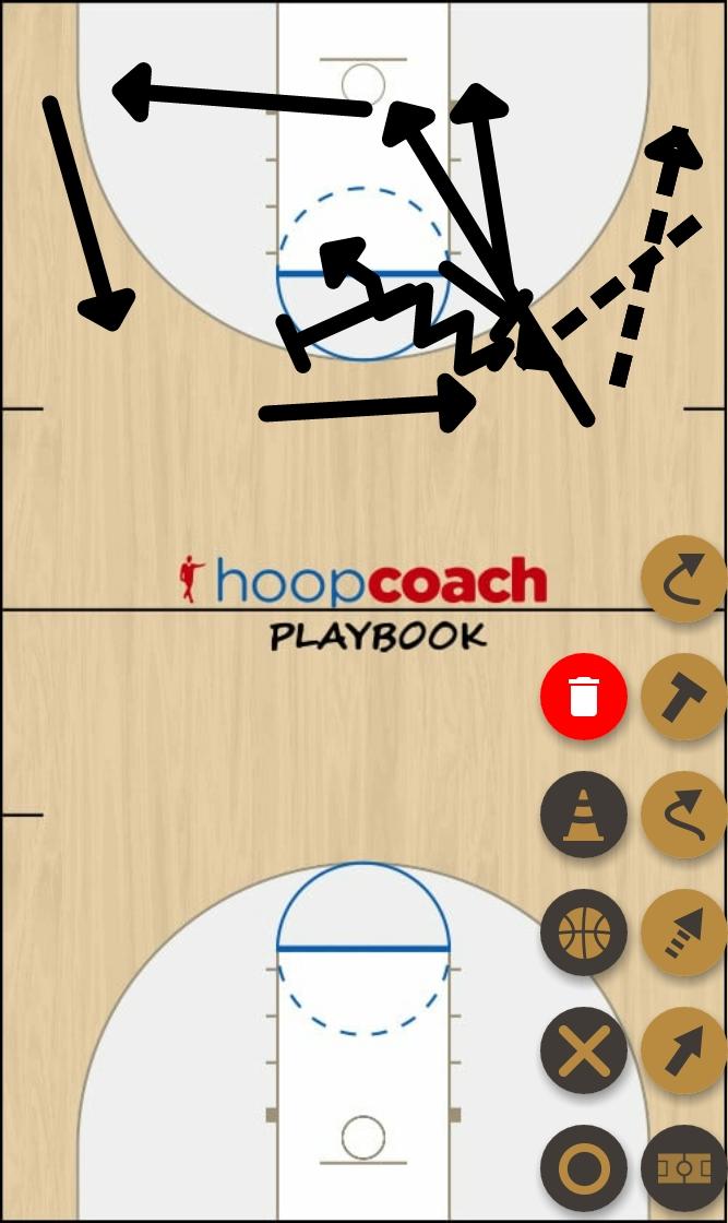 Basketball Play Motion 4-1  Man to Man Set