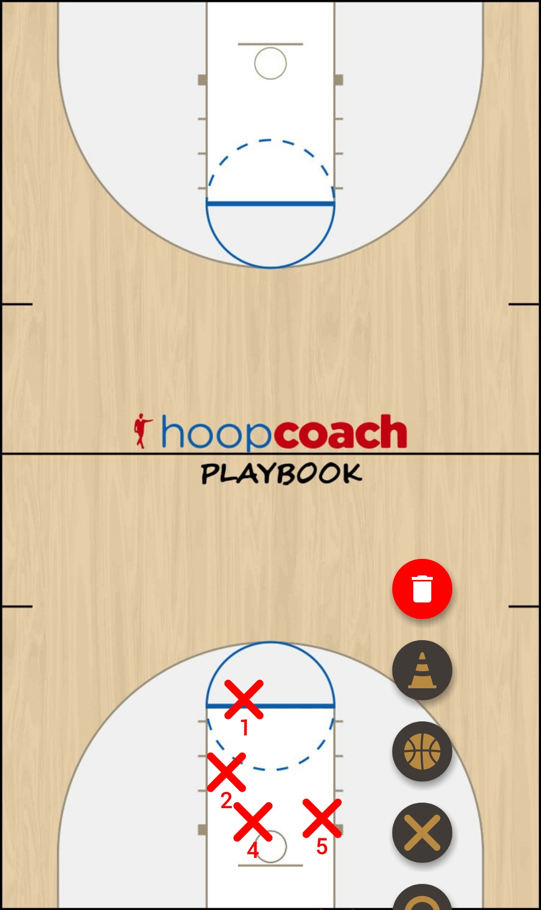 Basketball Play Dani Man to Man Set