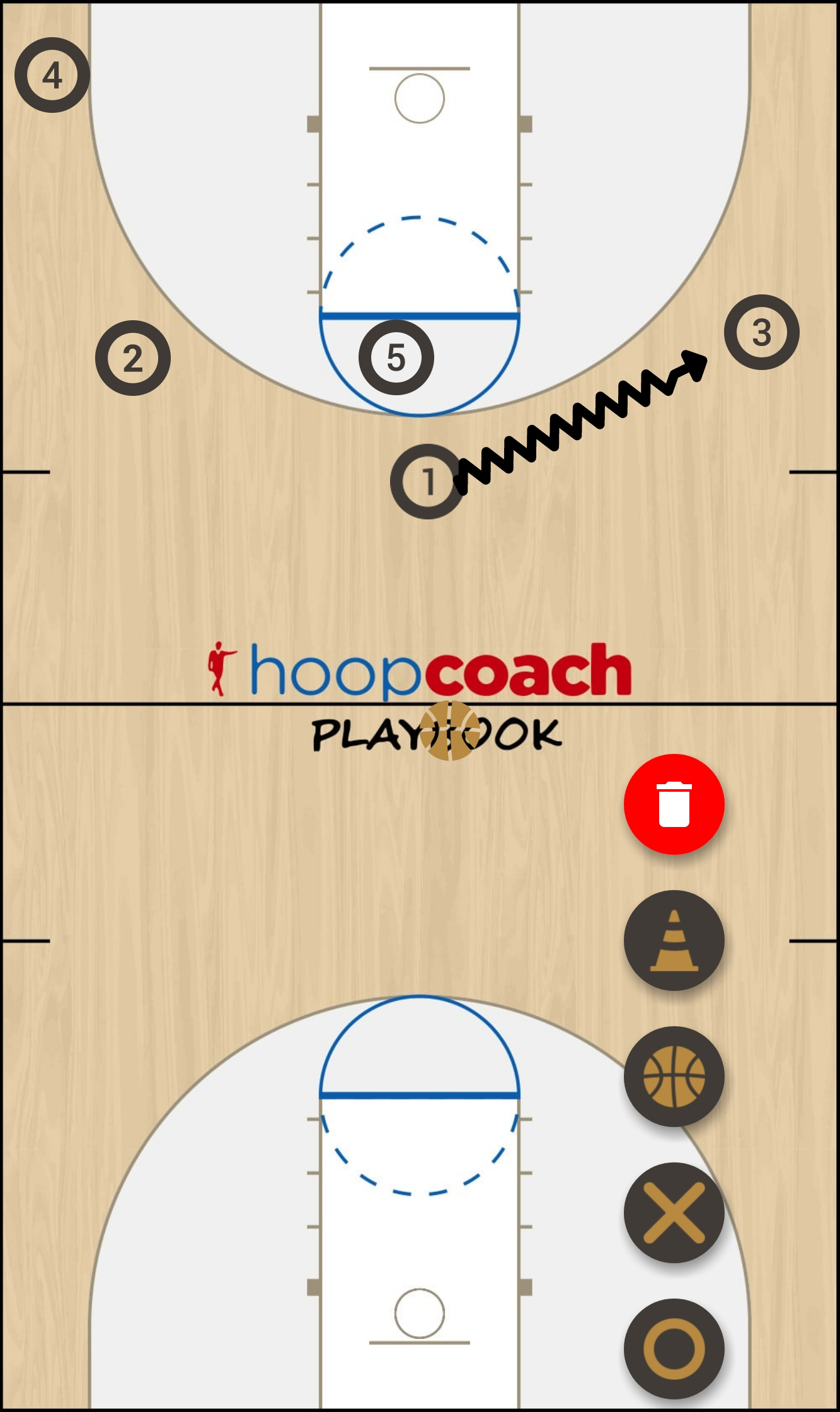 Basketball Play R&R Man to Man Set