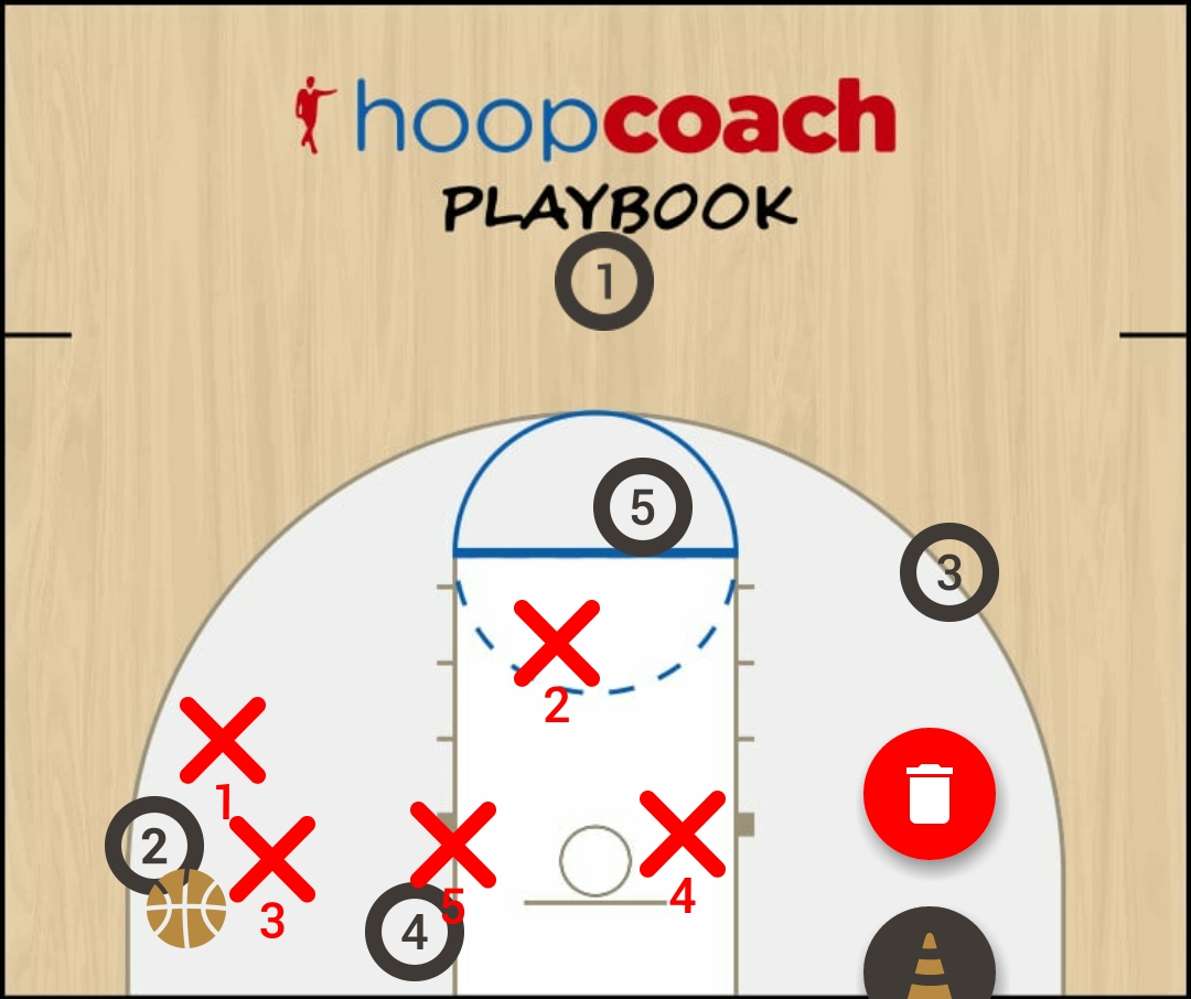 Basketball Play 2-1-2 Zone Defense