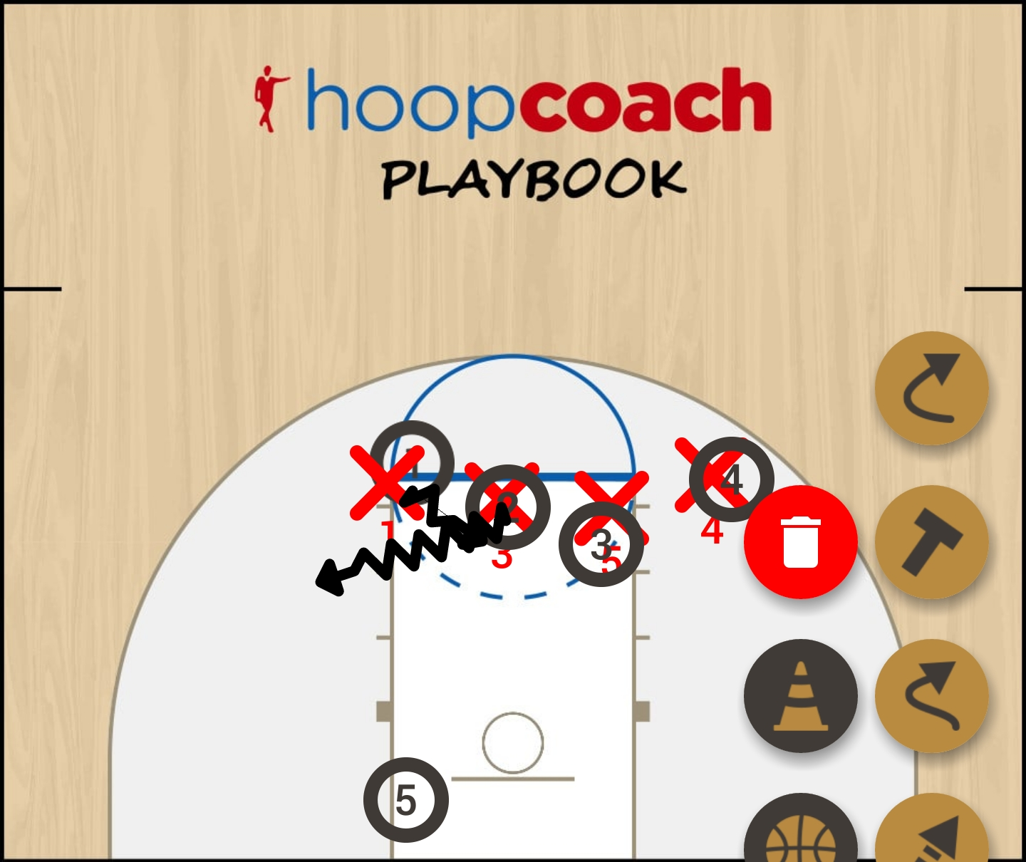 Basketball Play Indiana  Man Baseline Out of Bounds Play