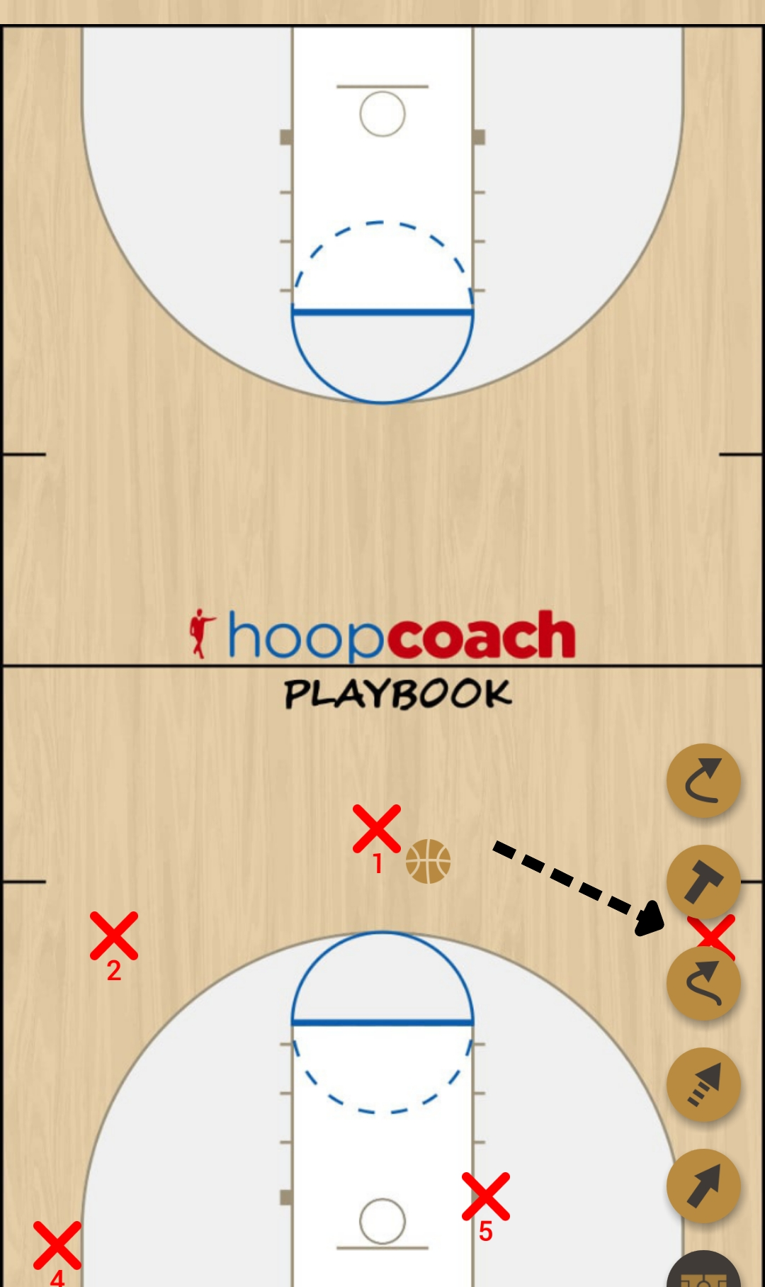 Basketball Play Color Man to Man Set any color