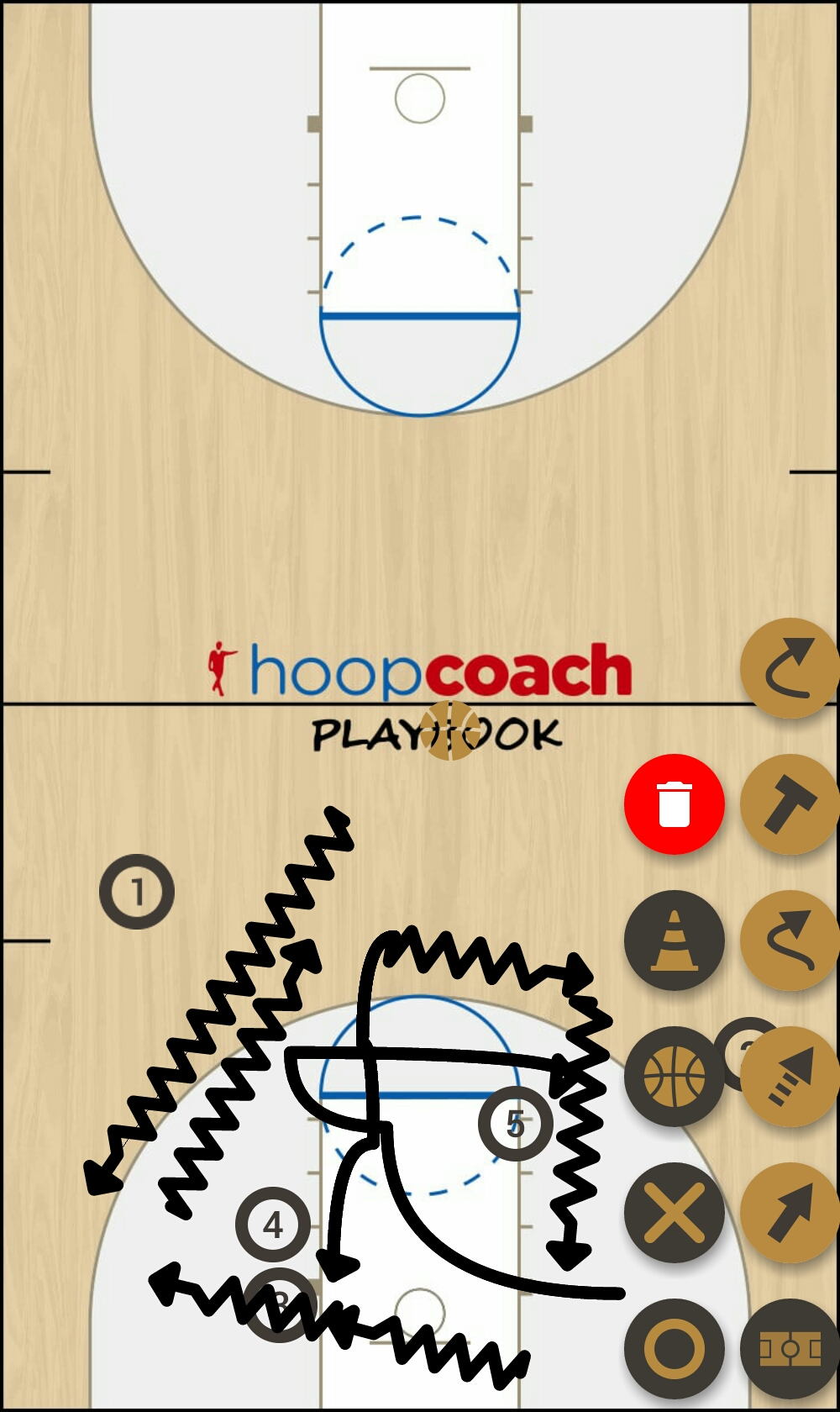 Basketball Play mejrem Man to Man Set