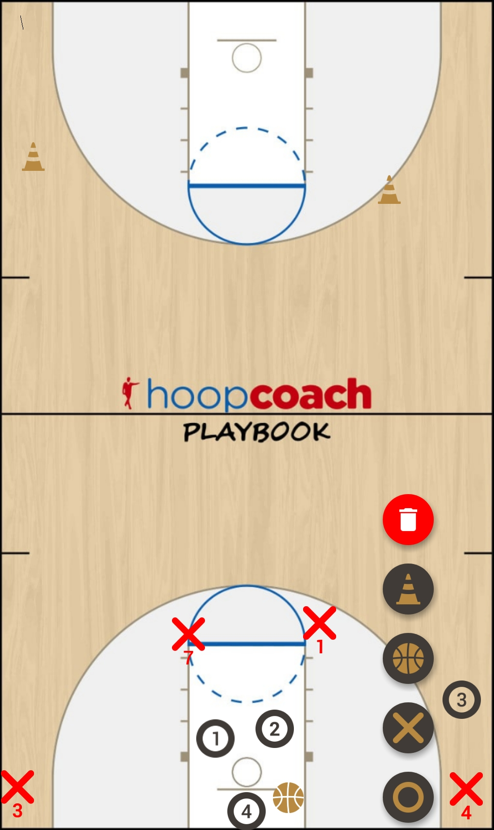 Basketball Play Blanco  Man to Man Set