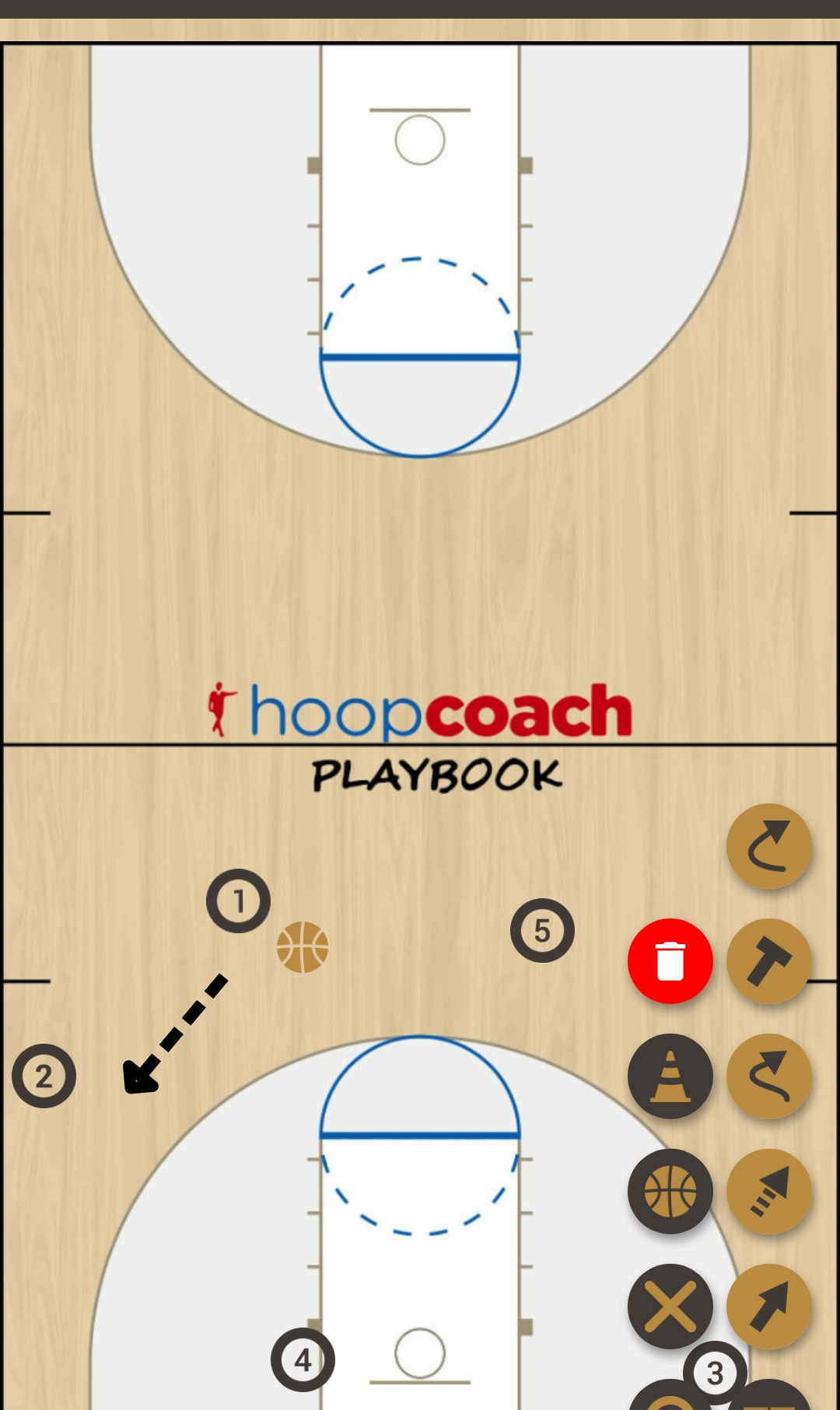 Basketball Play teste Man to Man Set ta