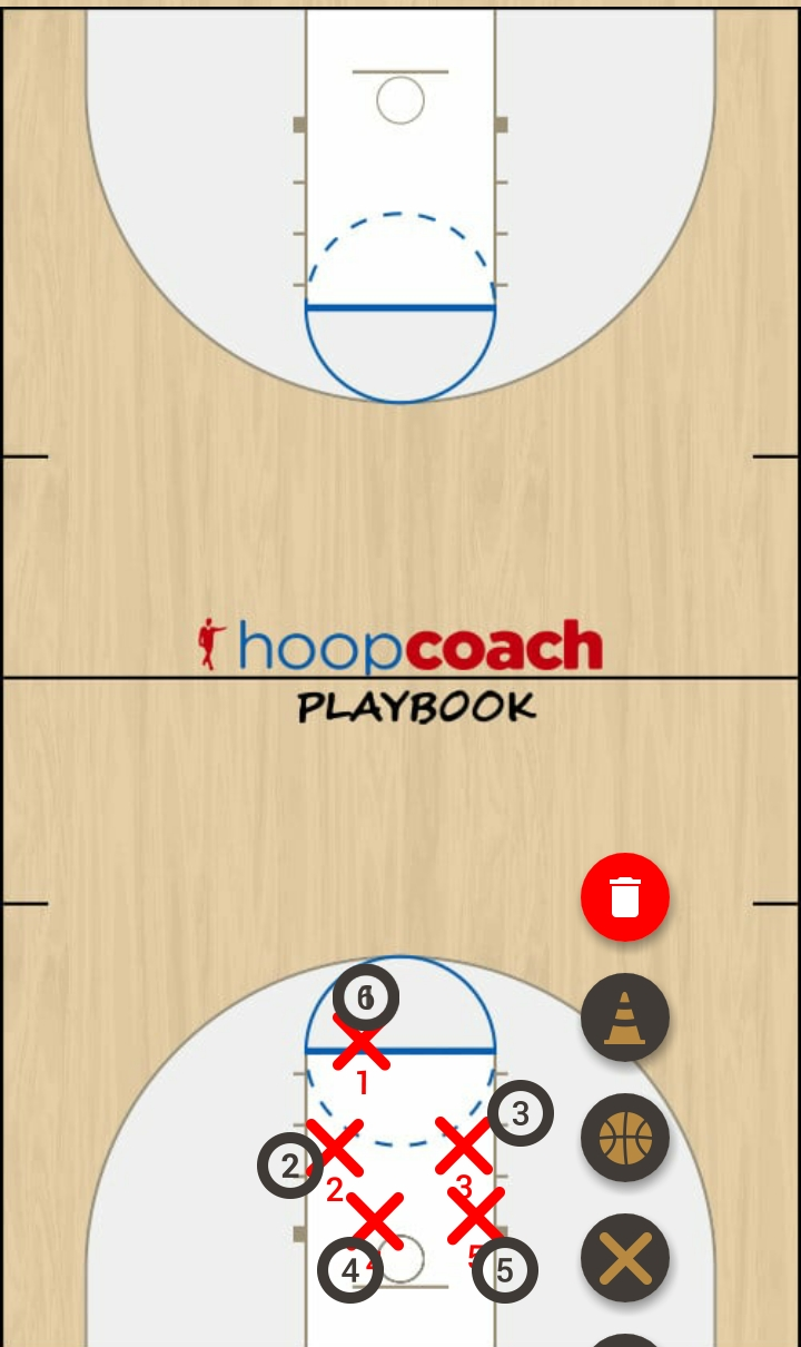 Basketball Play kevin piamonte Man to Man Set