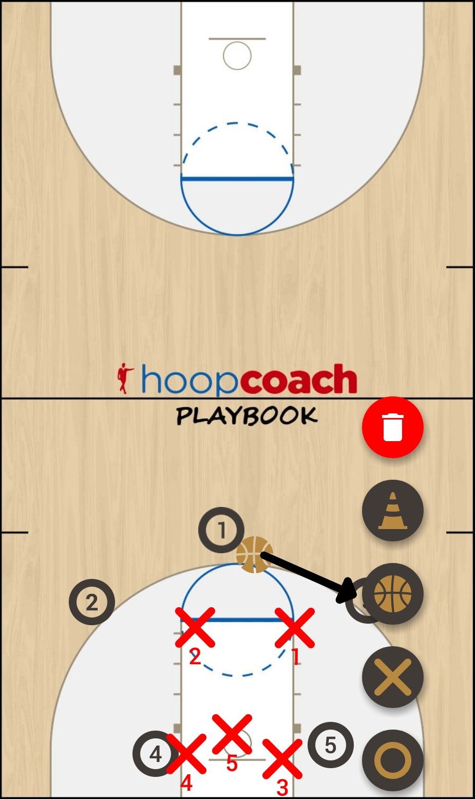 Basketball Play Prueba Man to Man Set pruebas