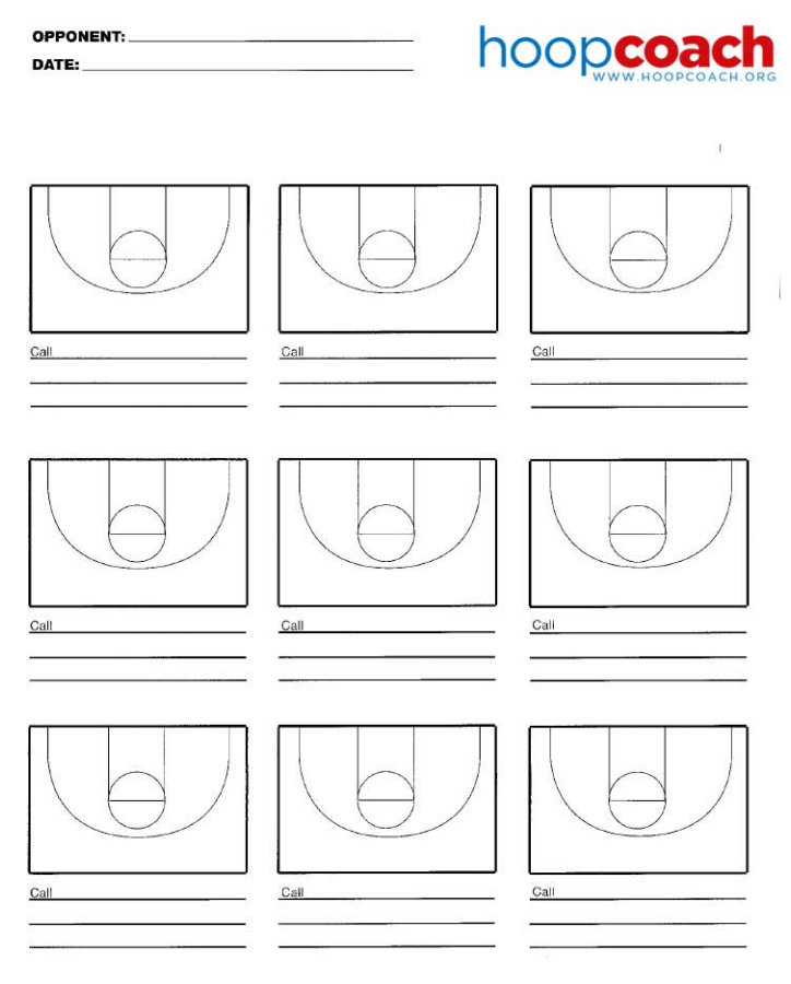 Nine Court Basketball Court Diagram Hoop Coach