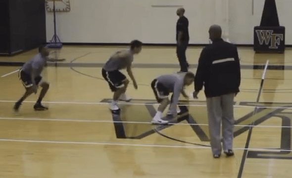 defensive slides drill