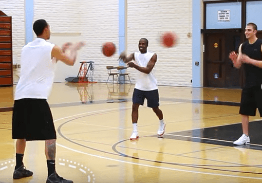 passing drill 3 on 1