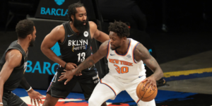 post defense with James Harden